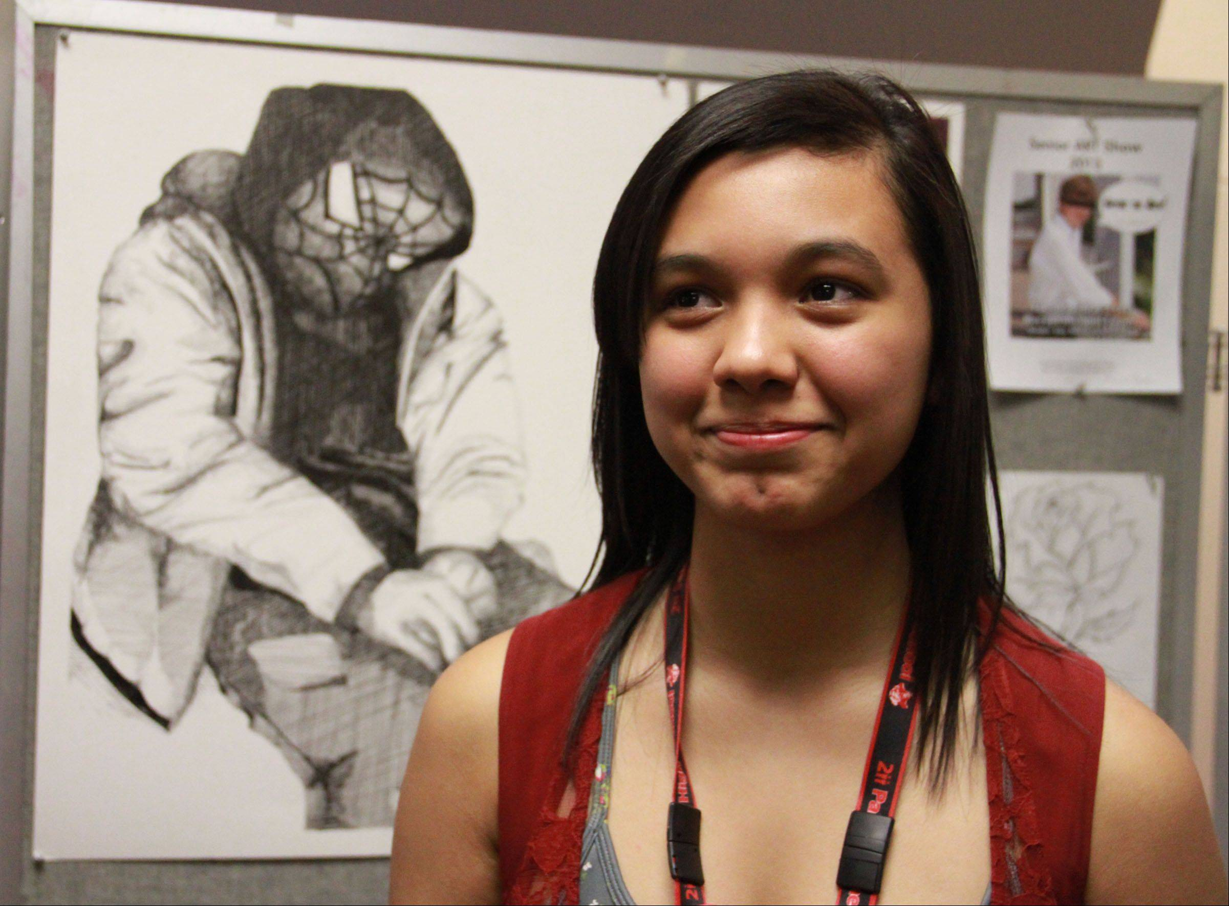 A talented artist whose work merits display at Palatine High School, graduating senior Rebecca Alanis will study architecture in college. She wasn't taking classes to prepare her for college until she joined Project Excel, a program that pushes minority students to broaden their possibilities.