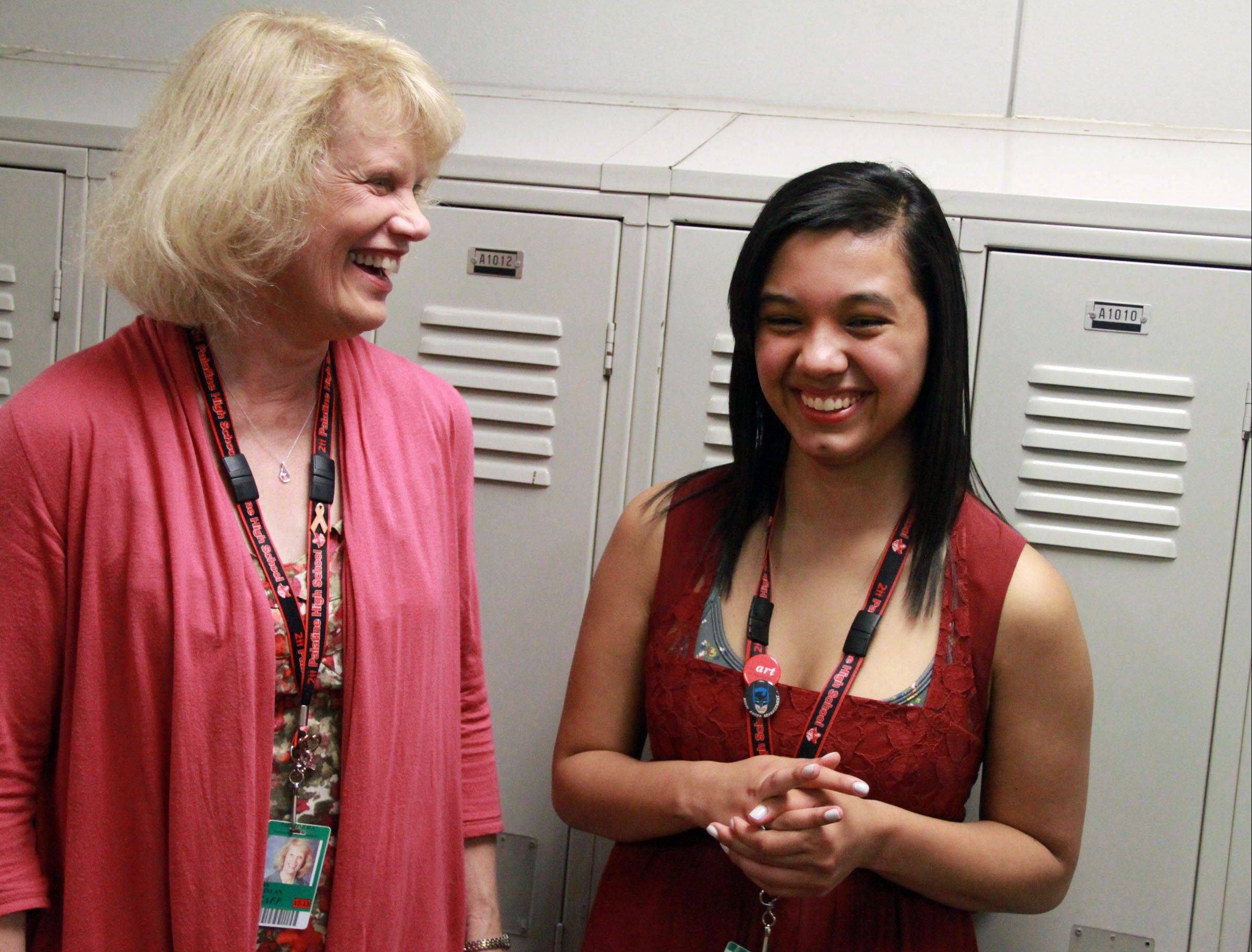Retiring Palatine High School counselor Susan Quinlan has seen plenty of success stories in her years coordinating Project Excel, an innovating program to help minority students. Graduating senior Rebecca Alanis credits the program with getting her into college. With the help of a $50,000 scholarship, Rebecca will study architecture at Kent State University.