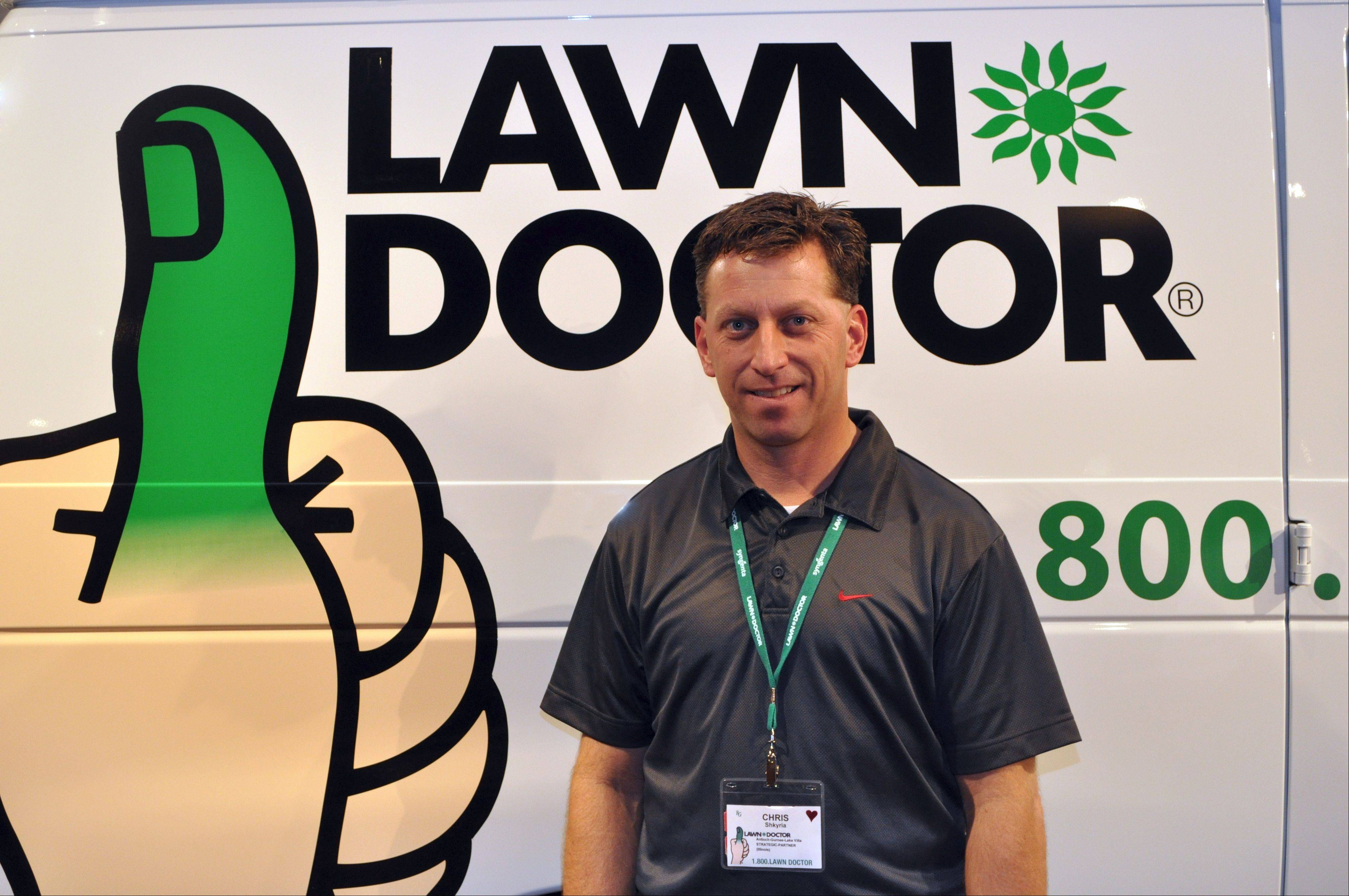 Chris Shkyria, co-owner of Lawn Doctor of Northern Illinois is growing his franchise.