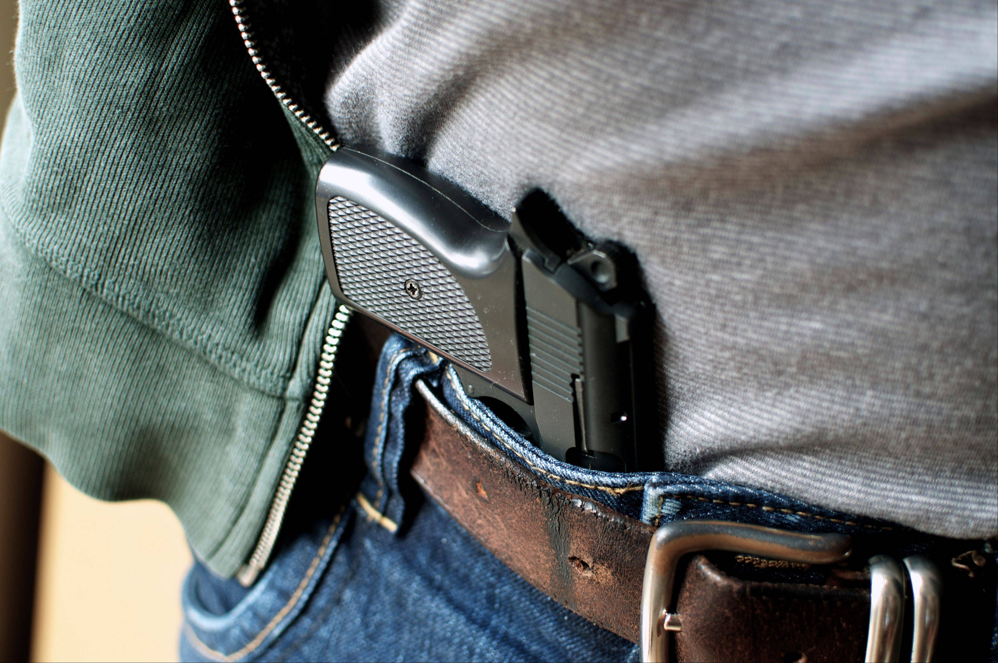 Individual suburbs wouldn�t get to set their own rules for carrying a concealed firearm under the plan lawmakers have sent Gov. Pat Quinn. And suburban gun owners wouldn�t be allowed to carry loaded guns on public transit or in schools, parks and other places.