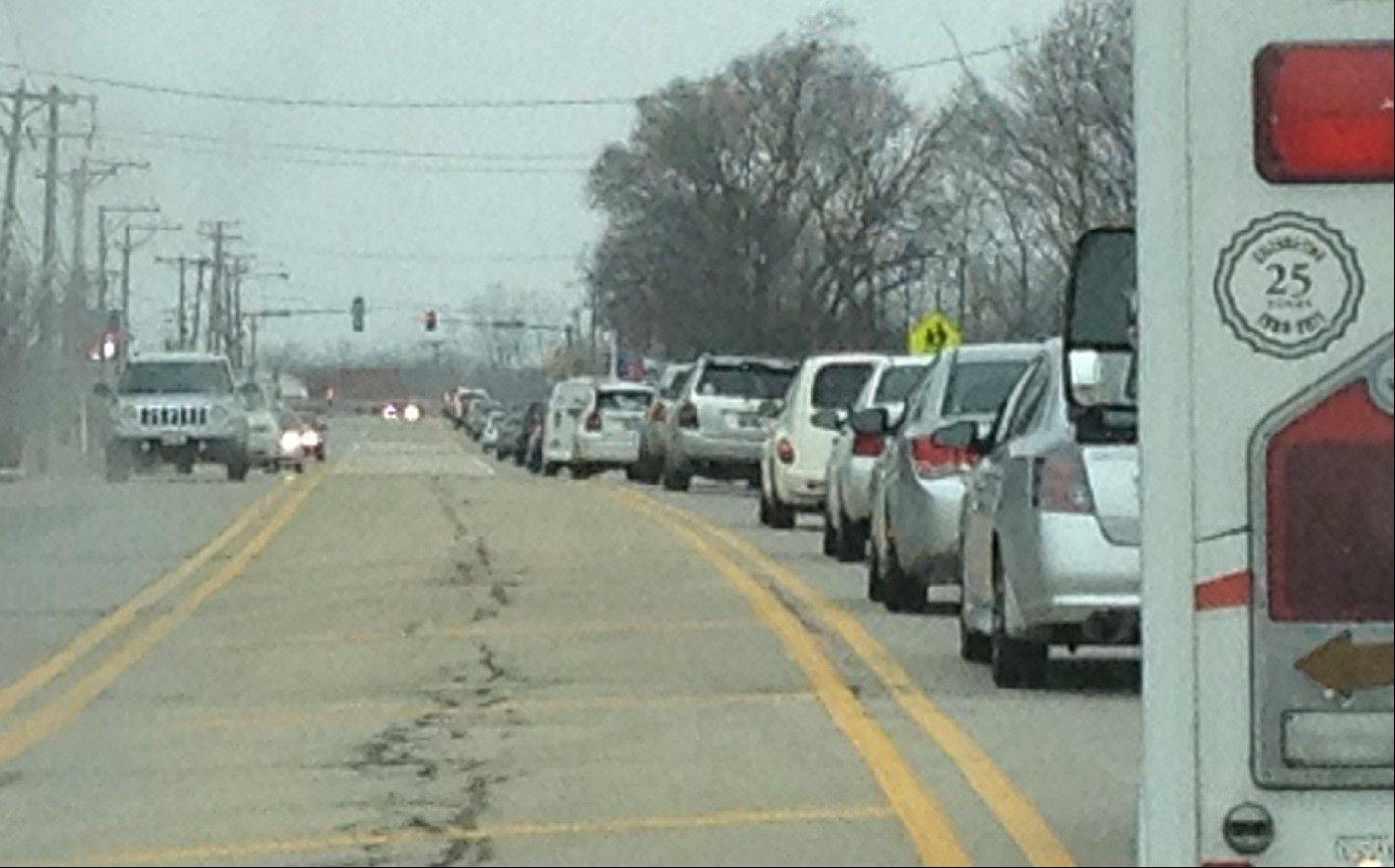 Traffic backups on Route 120 near Hainesville won't go away unless the state can obtain federal funding.