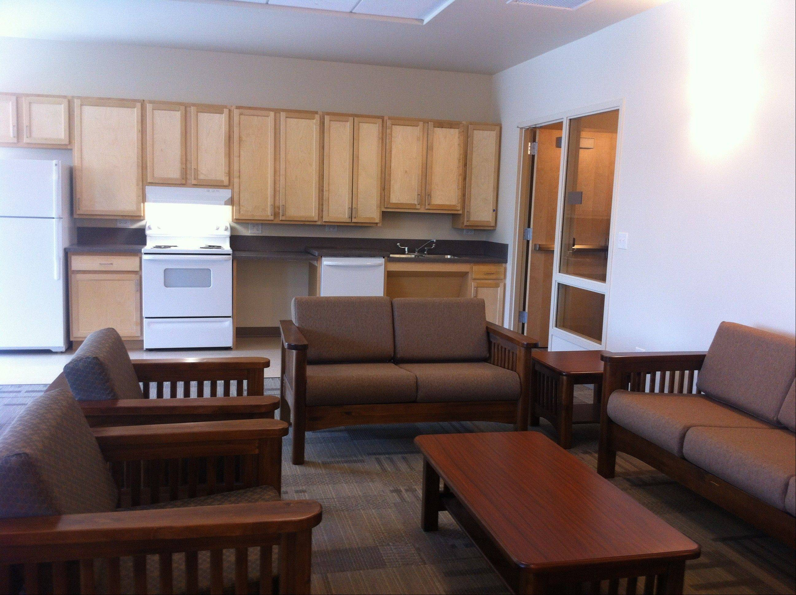 A community room with a kitchen will be available to residents.