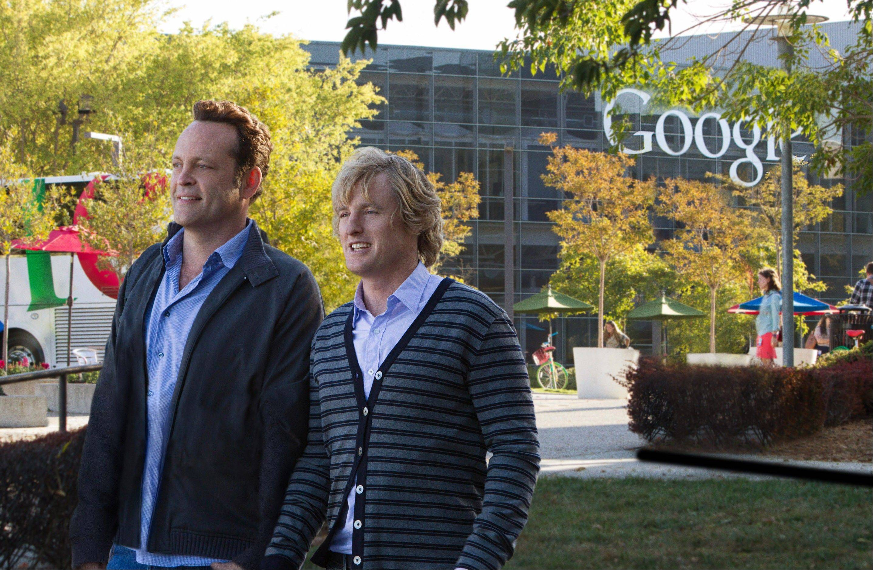 ASSOCIATED PRESS The new comedy film, The Internship,� is a nearly two-hour showcase for Google�s idealistic culture and for a product line that�s becoming deeply ingrained in people�s technology-dependent lives. The movie stars Owen Wilson, right, and Vince Vaughn.
