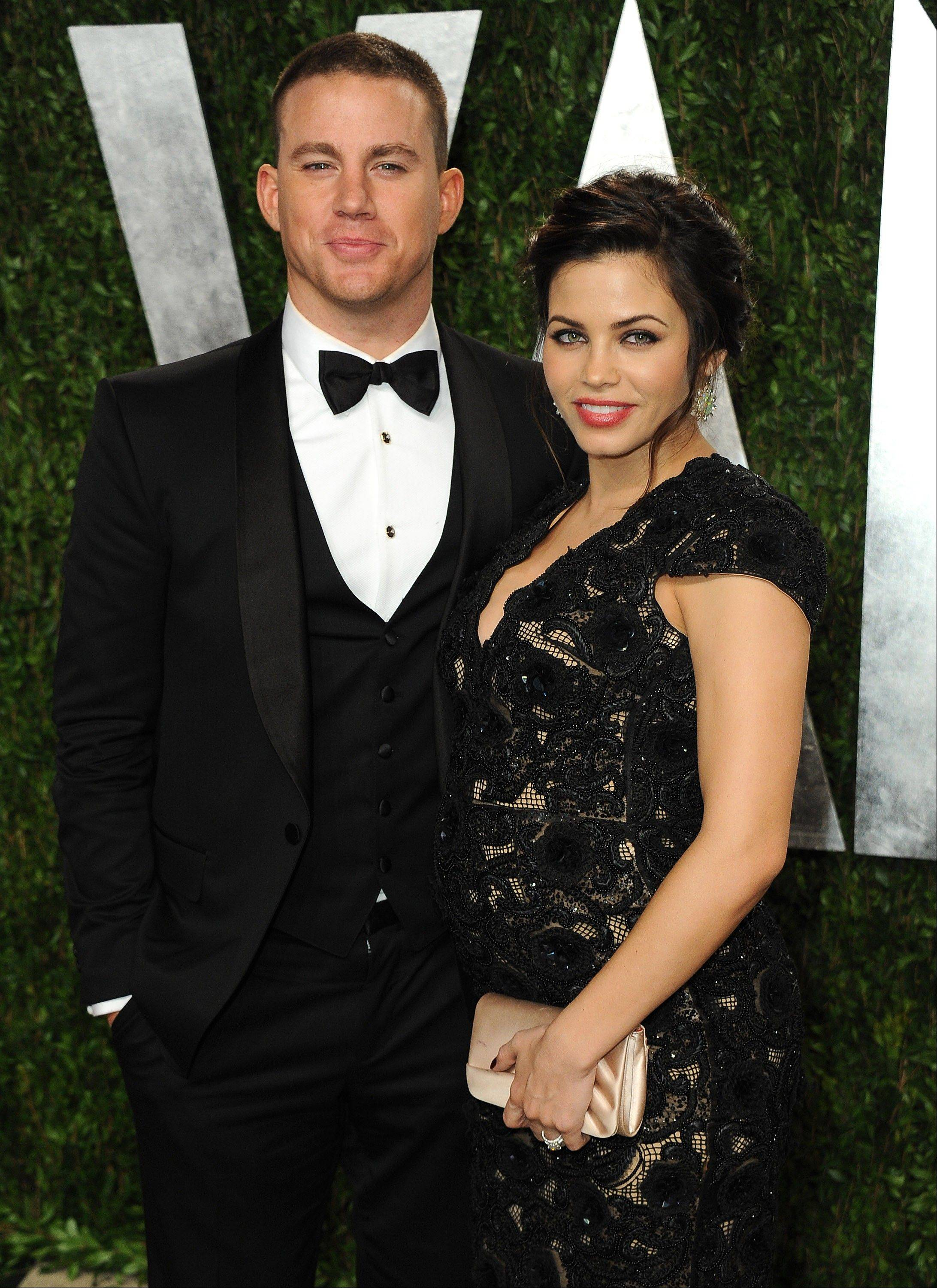 "Jenna Dewan-Tatum gave birth to a baby girl Friday, May 31, in London, where her husband, Channing Tatum, is filming the movie ""Jupiter Ascending."""