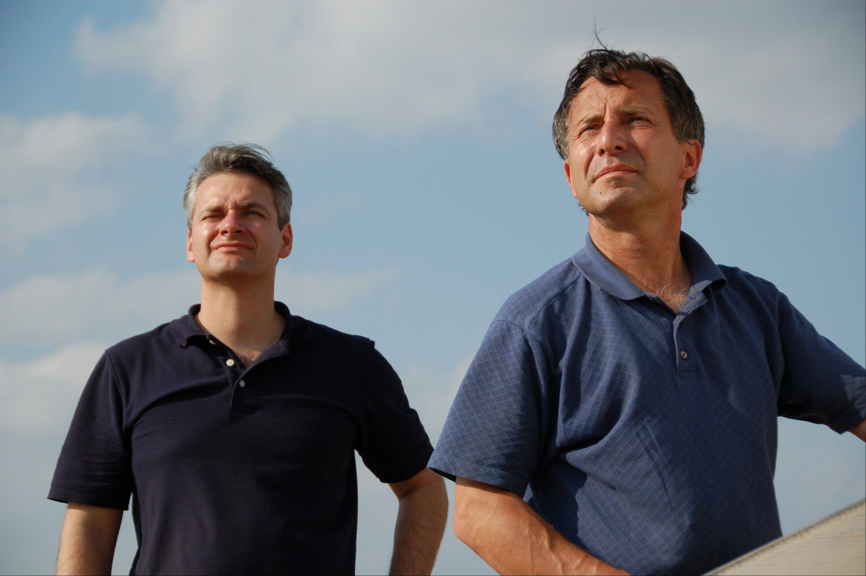 "The Discovery Channel will air ""Mile Wide Tornado: Stormchasers Tribute"" in a tribute to Carl Young, left, and Tim Samaras, who died in Oklahoma Friday."