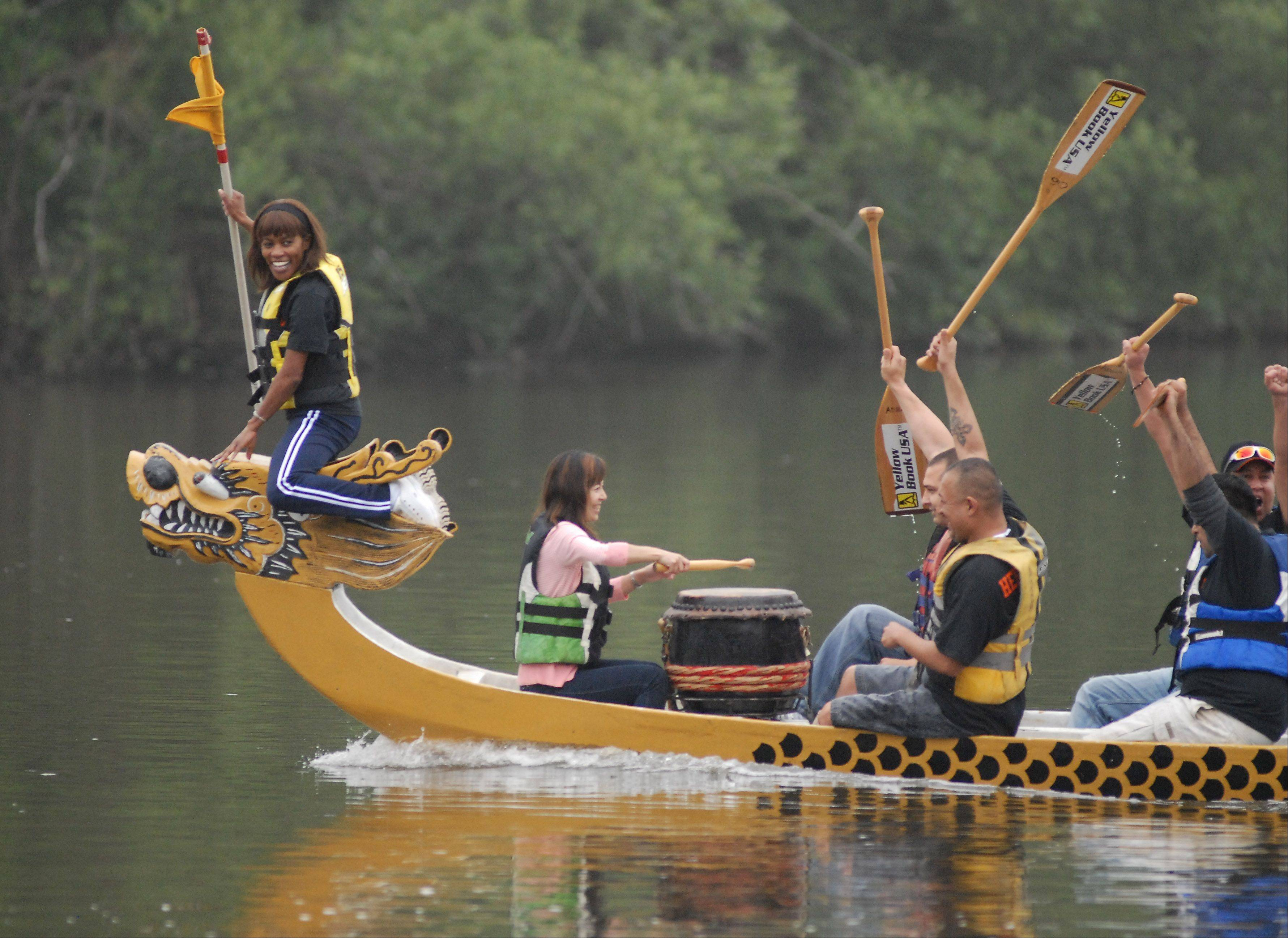 See Dragon Boat Racing at RiverFest in St. Charles.