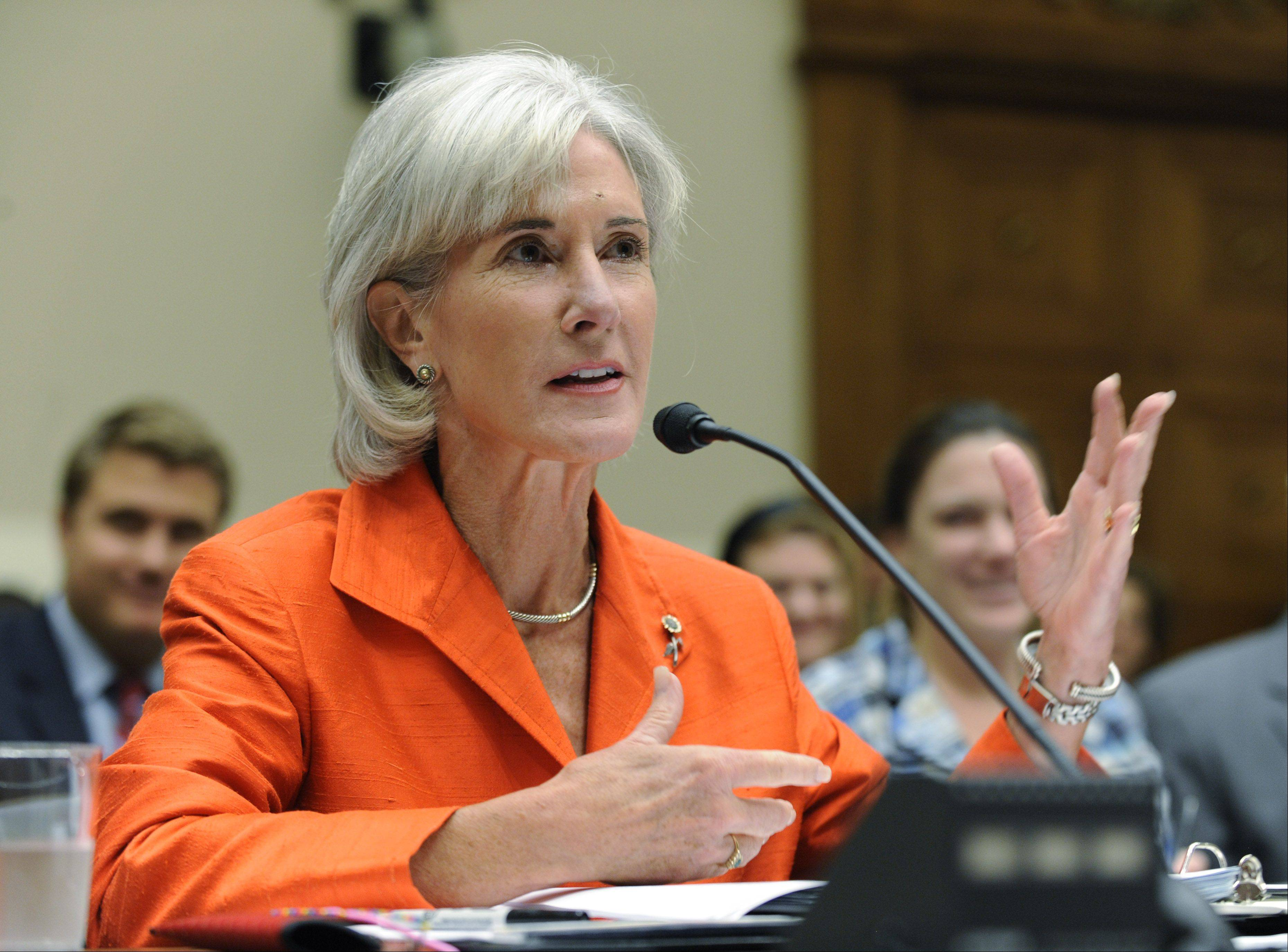 Health and Human Services Secretary Kathleen Sebelius one of President Obama's appointees using a secret email address, according to a review by the Associated Press.