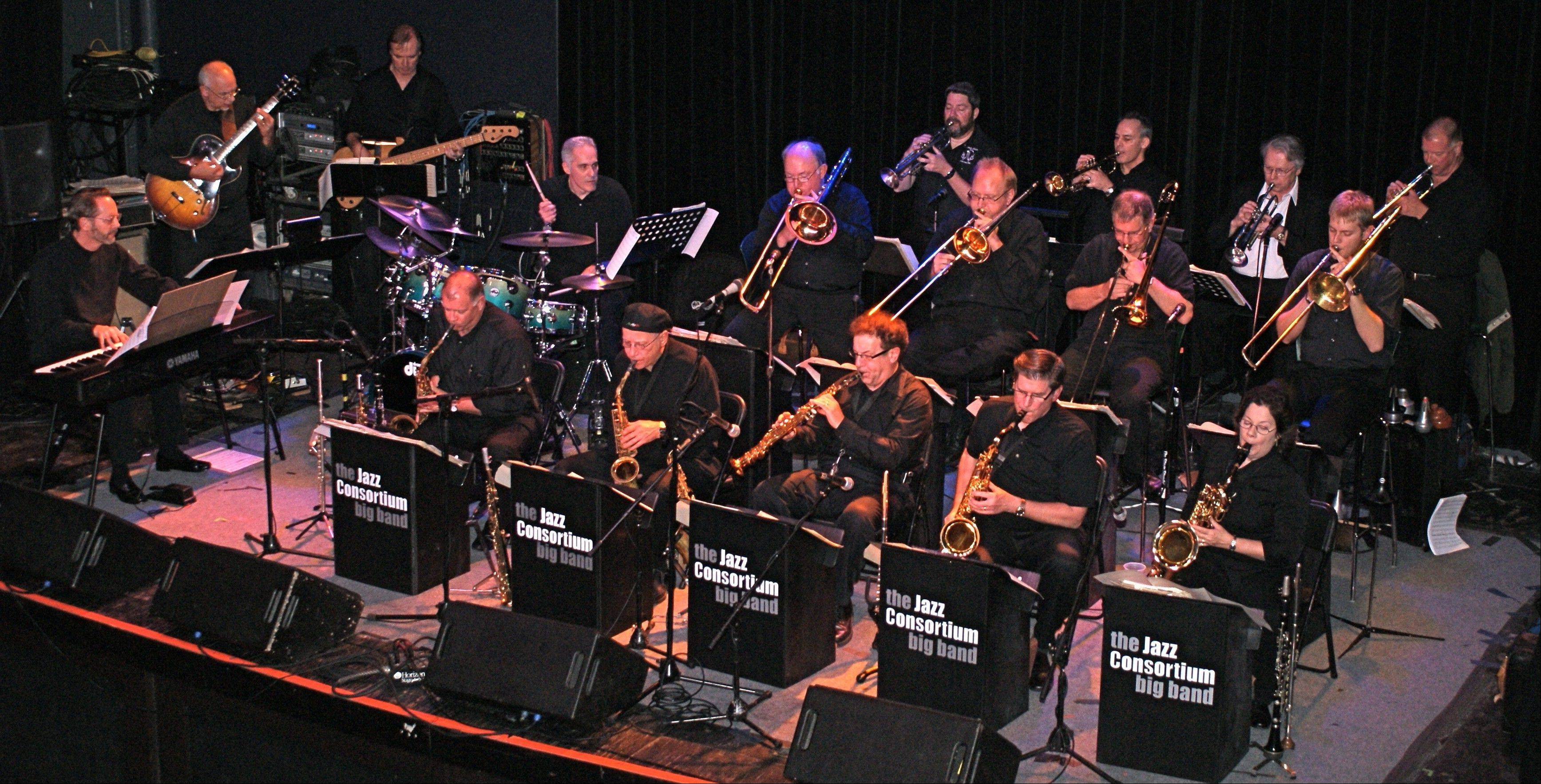 The Jazz Consortium Big Band celebrates its second anniversary at Durty Nellie's in Palatine.