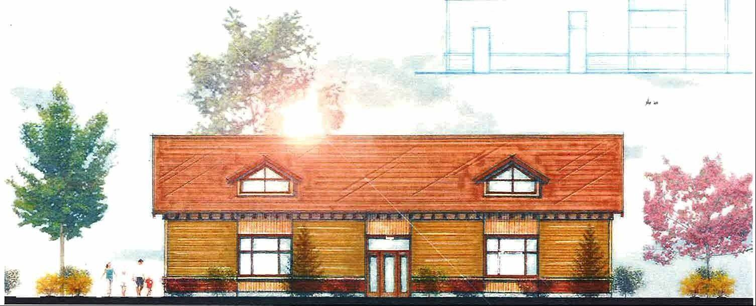 "This artist's rendering shows a new $739,000 gym to be built at 517 S. Union St. in Aurora to replace the aging facility used by the Jesse ""The Law"" Torres Boxing Club."