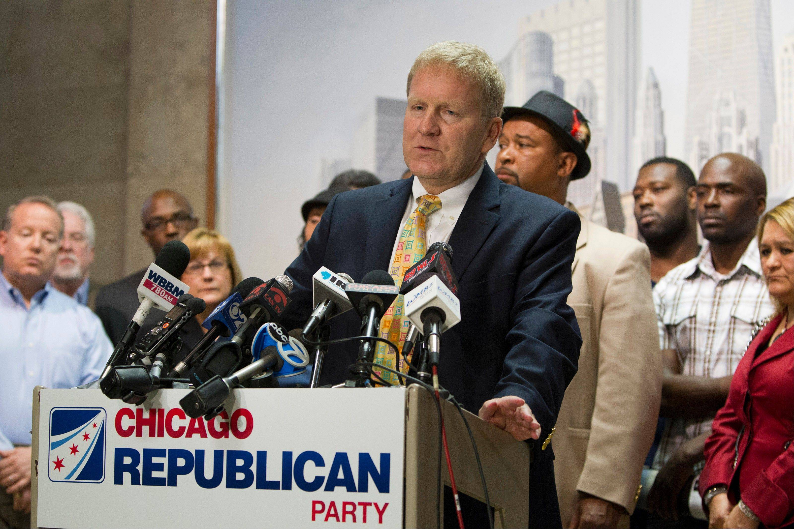 House Republican Leader Tom Cross and others in the party are recruiting candidates in Chicago.