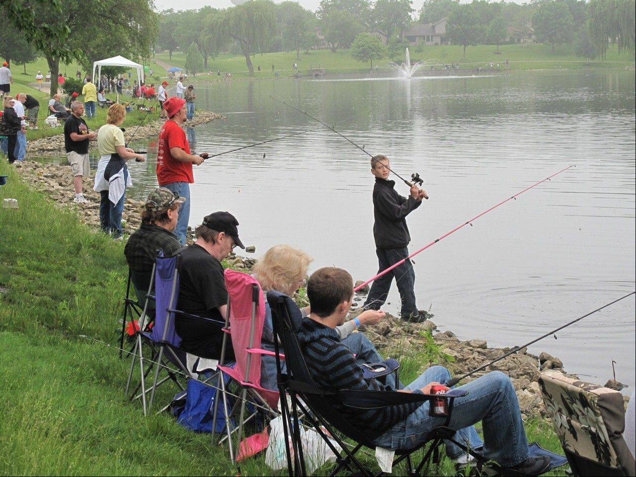 The annual fishing derby is a relaxing community event for the whole family.