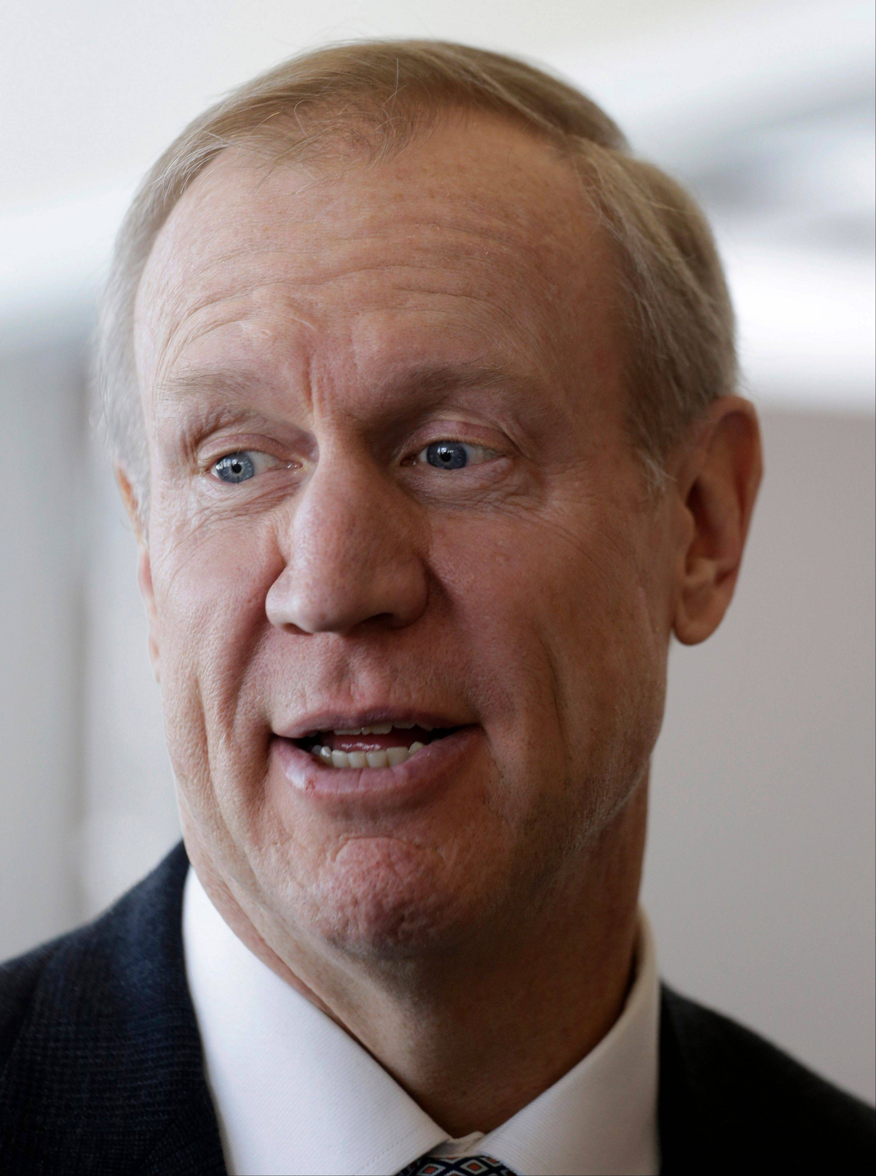 Republican venture capitalist Bruce Rauner said is he running for Illinois governor in 2014. He will face state Treasurer Dan Rutherford in the GOP primary. Republican Sens. Kirk Dillard and Bill Brady also have expressed interest.