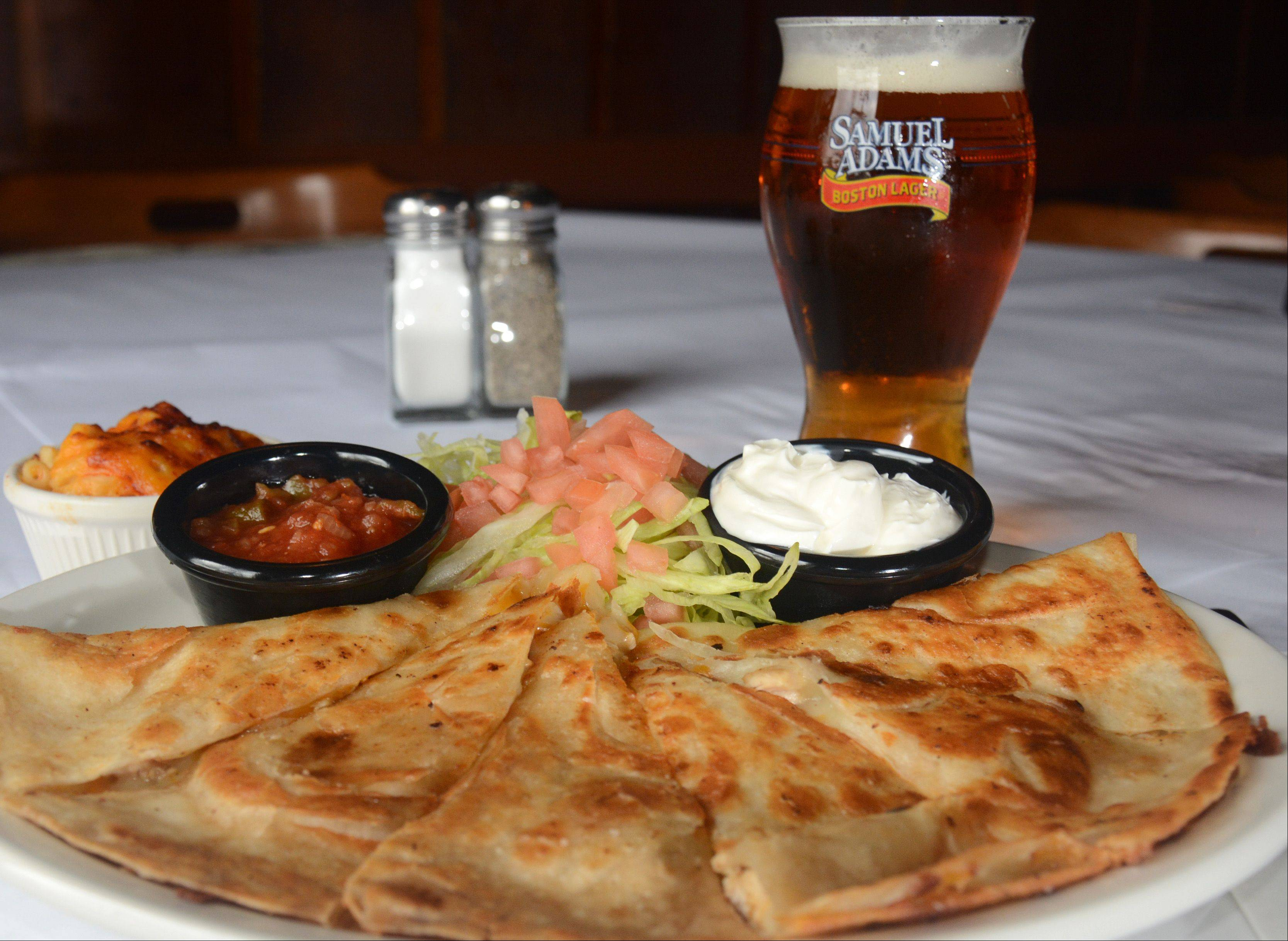 Chicken quesadilla at Brandt's in Palatine.