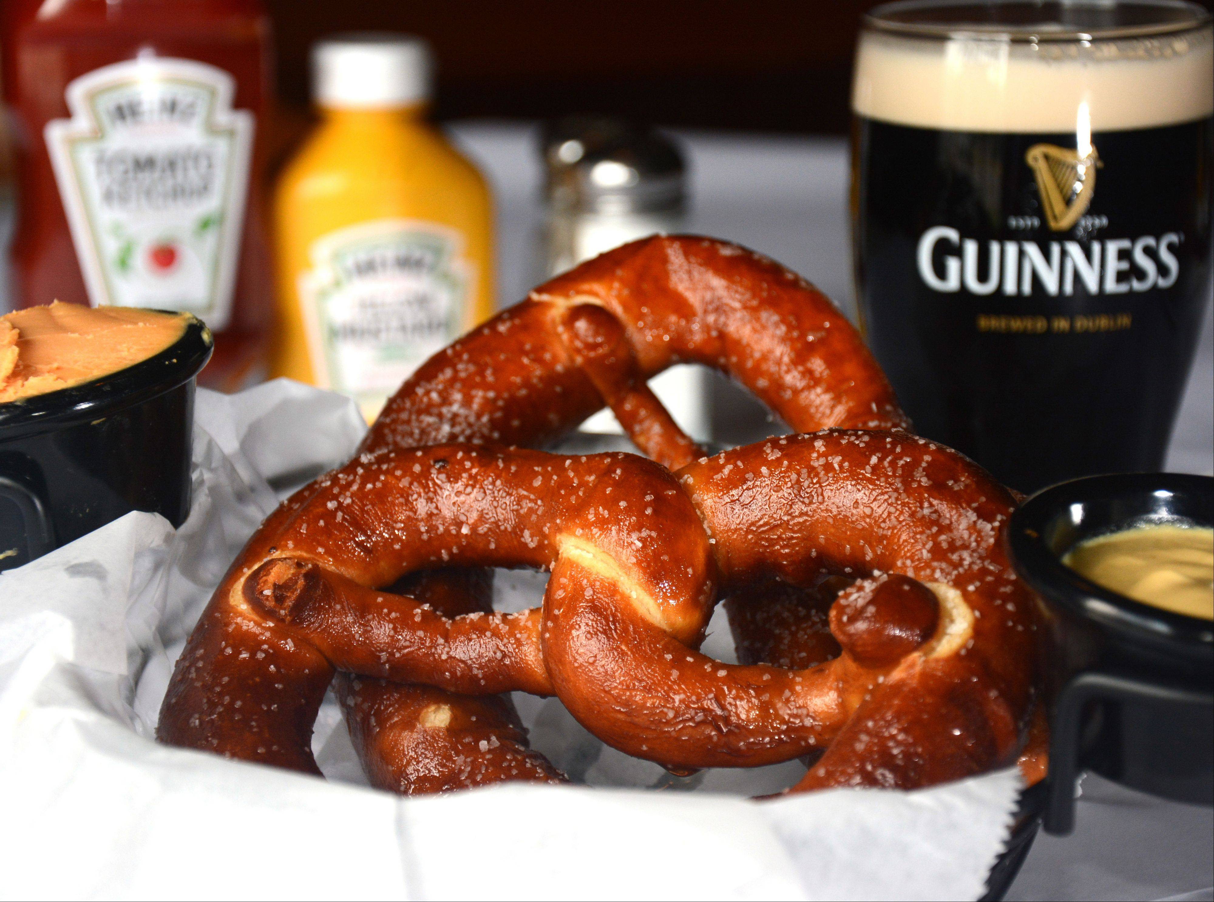 Soft pretzels are a new addition to the appetizer menu at Brandt's in Palatine.