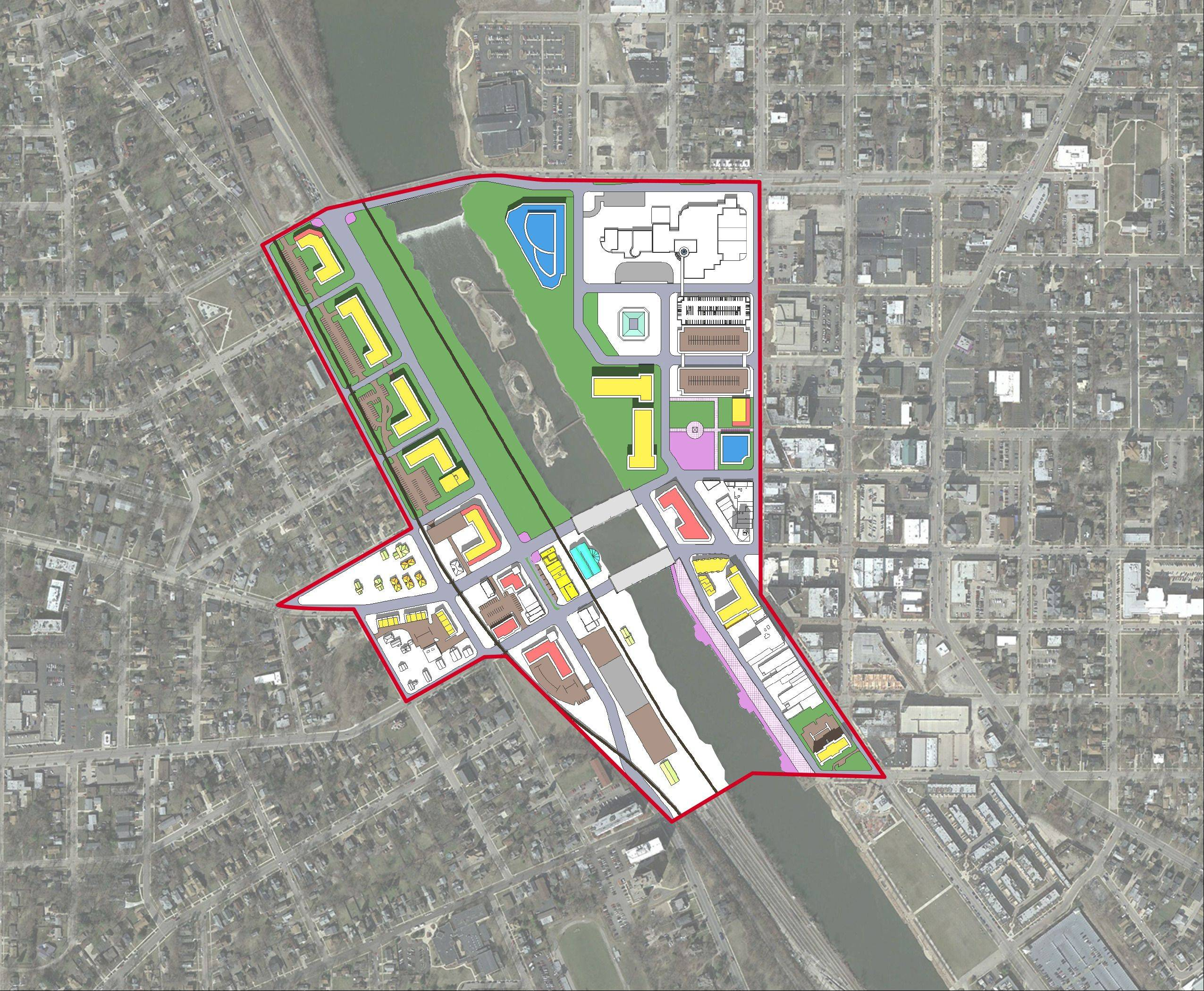 An initial draft plan for the Elgin Chicago Street Station Area Plan includes looking at opportunities for redevelopment while increasing RTA ridership. The plan is funded by an RTA grant with a contribution from the city of Elgin.