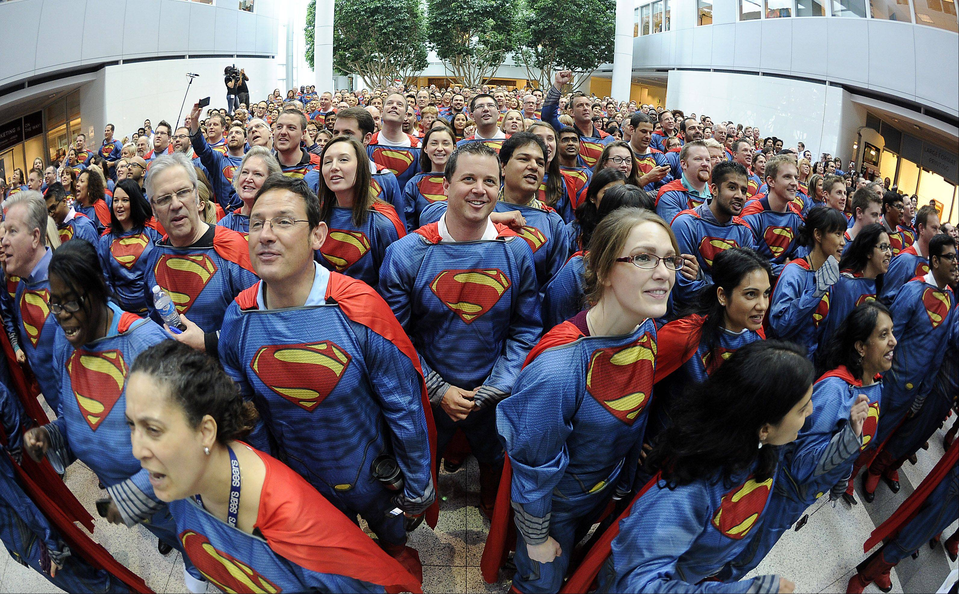 Mike Ullrich of Lake in the Hills was one of 566 Sears Holdings Corp. employees participating in the setting of a new Guinness World Record.