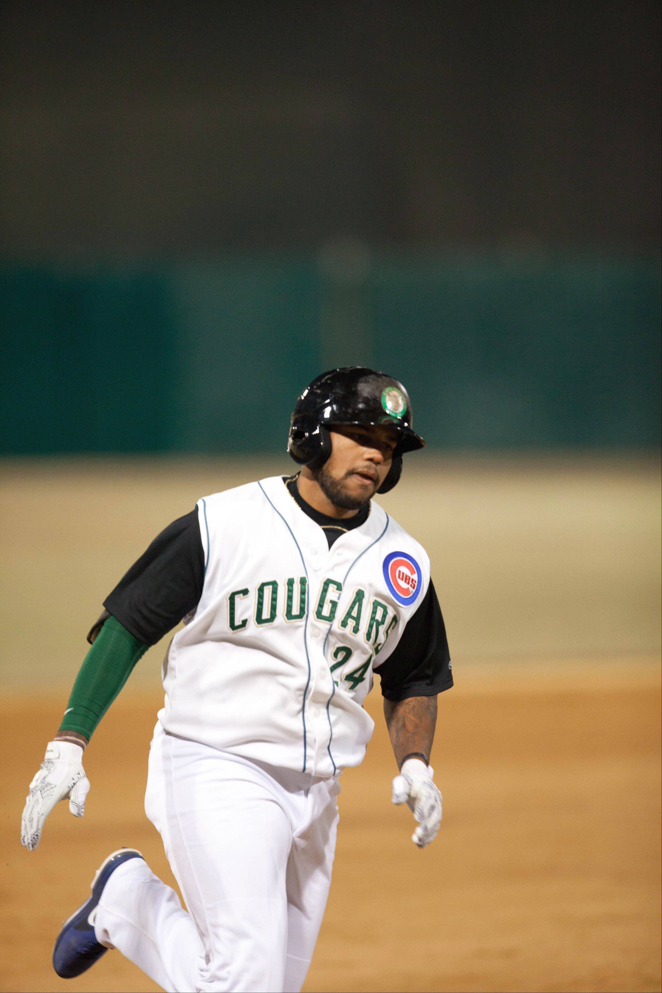 Rock Shoulders, an outfielder/first baseman for the Kane County Cougars, leads the Midwest League in homers with 12 through Tuesday's action.