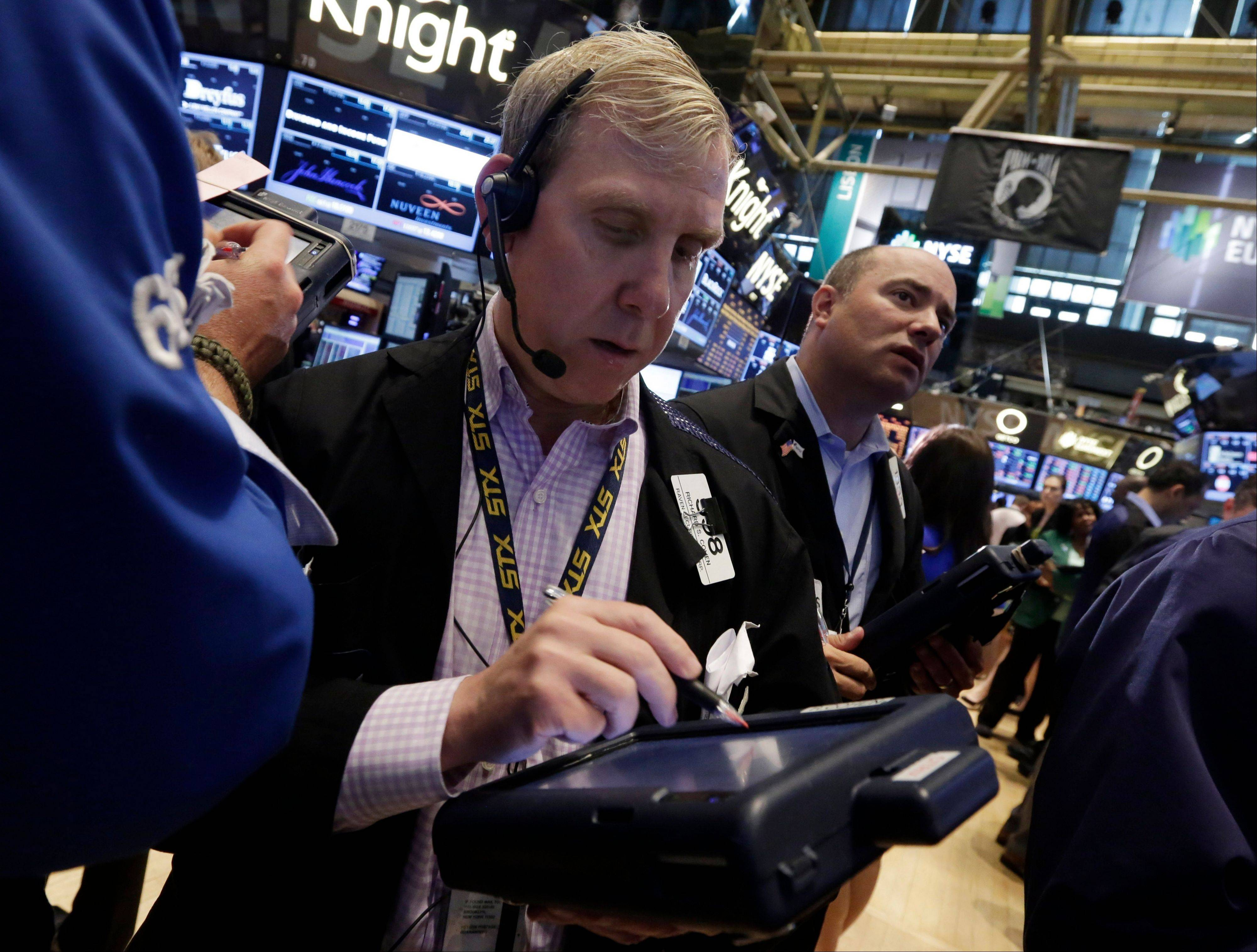 U.S. stocks rose, with the Standard & Poor's 500 Index erasing earlier losses to snap a two-day losing streak, as investors weighed the Federal Reserve's stimulus plans before a report on employment growth tomorrow.