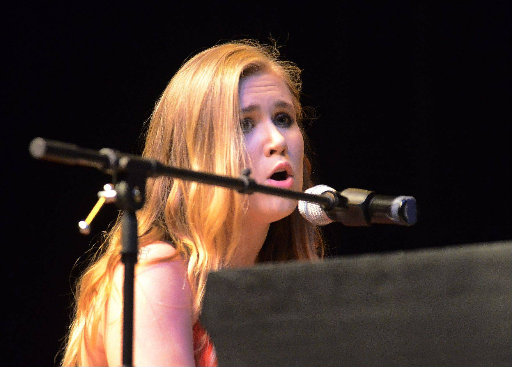 "18-year-old Nikki Maas of Lisle sings the Beatles, ""Oh Darling."""