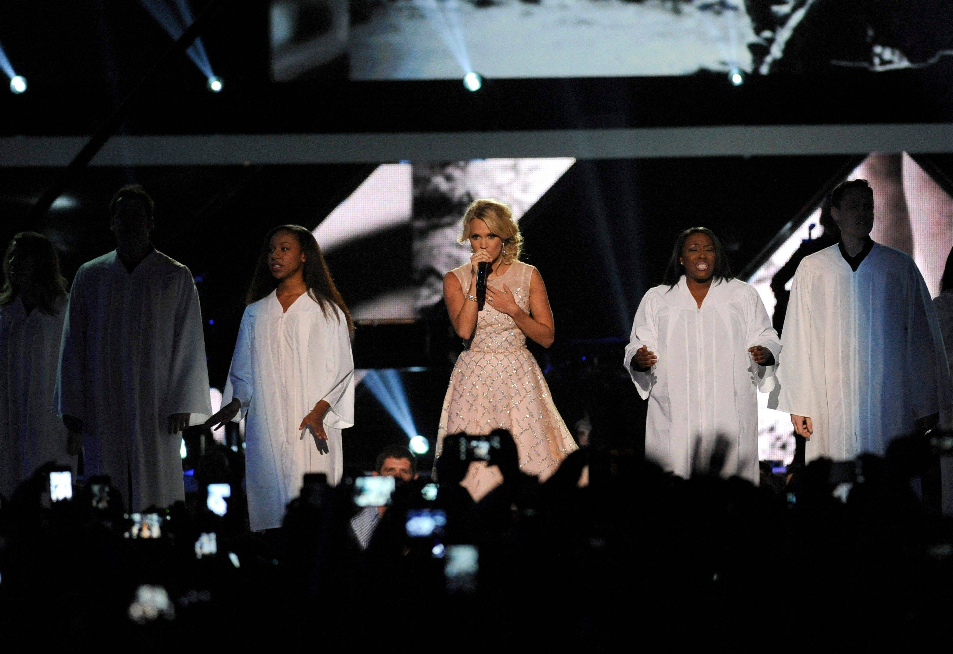 Carrie Underwood also took the stage to perform at the 2013 CMT Music Awards in Nashville, Tenn.