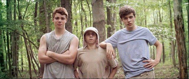 "Gabriel Basso, Moises Arias and Nick Robinson in ""Kings of Summer."""