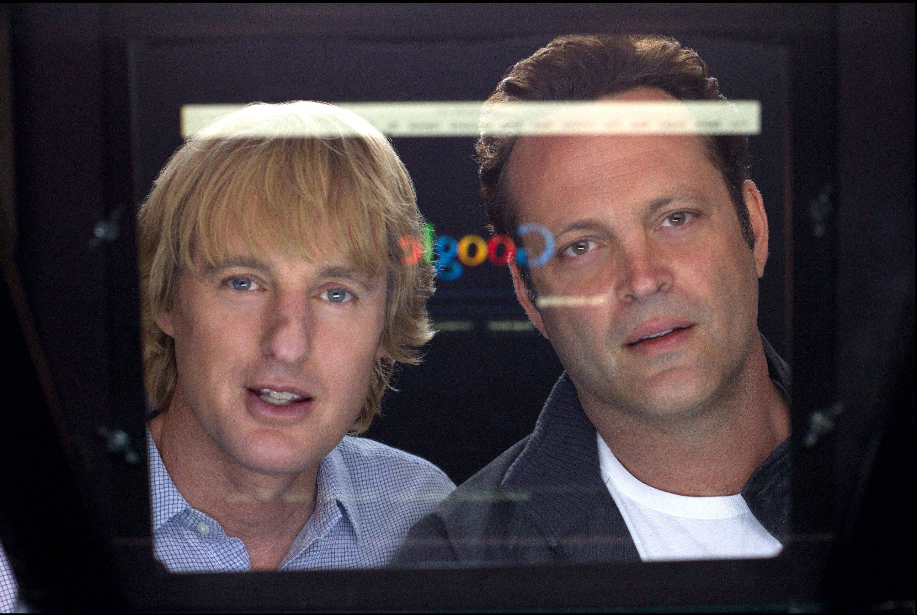 "Nick and Billy (Owen Wilson, left, and Vince Vaughn) compete against much-younger interns for a job at Google in ""The Internship."""