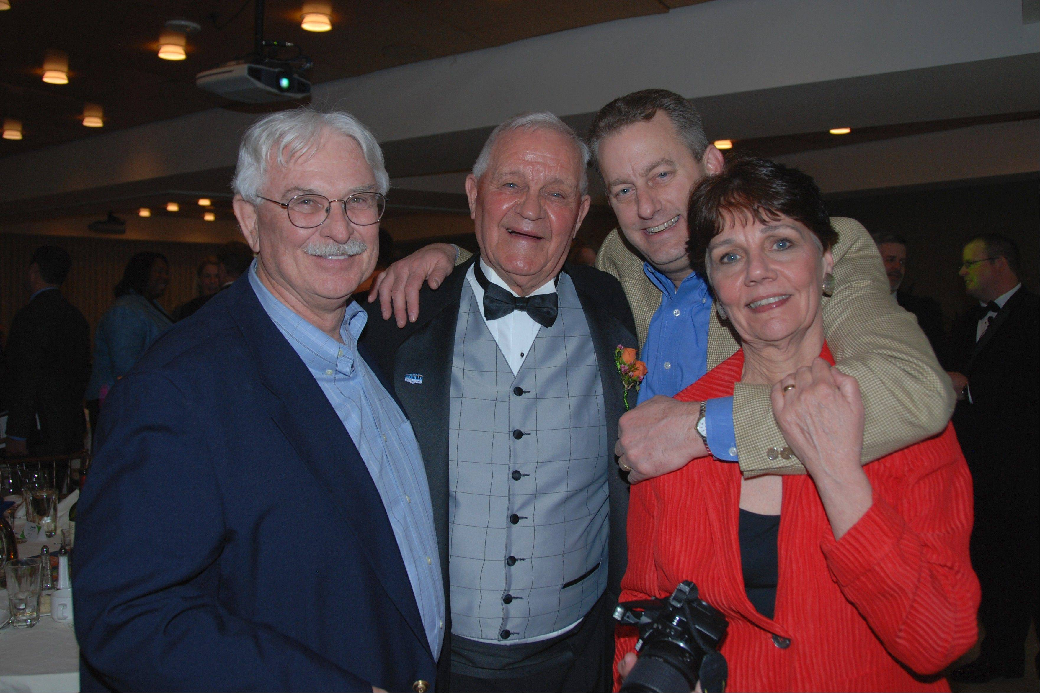 Stephanie Penick, always with a camera in hand, chronicled the events of the 2011 Jaycees Distinguished Service awards with Mike Krol, Don Wehrli and Ray Kinney.