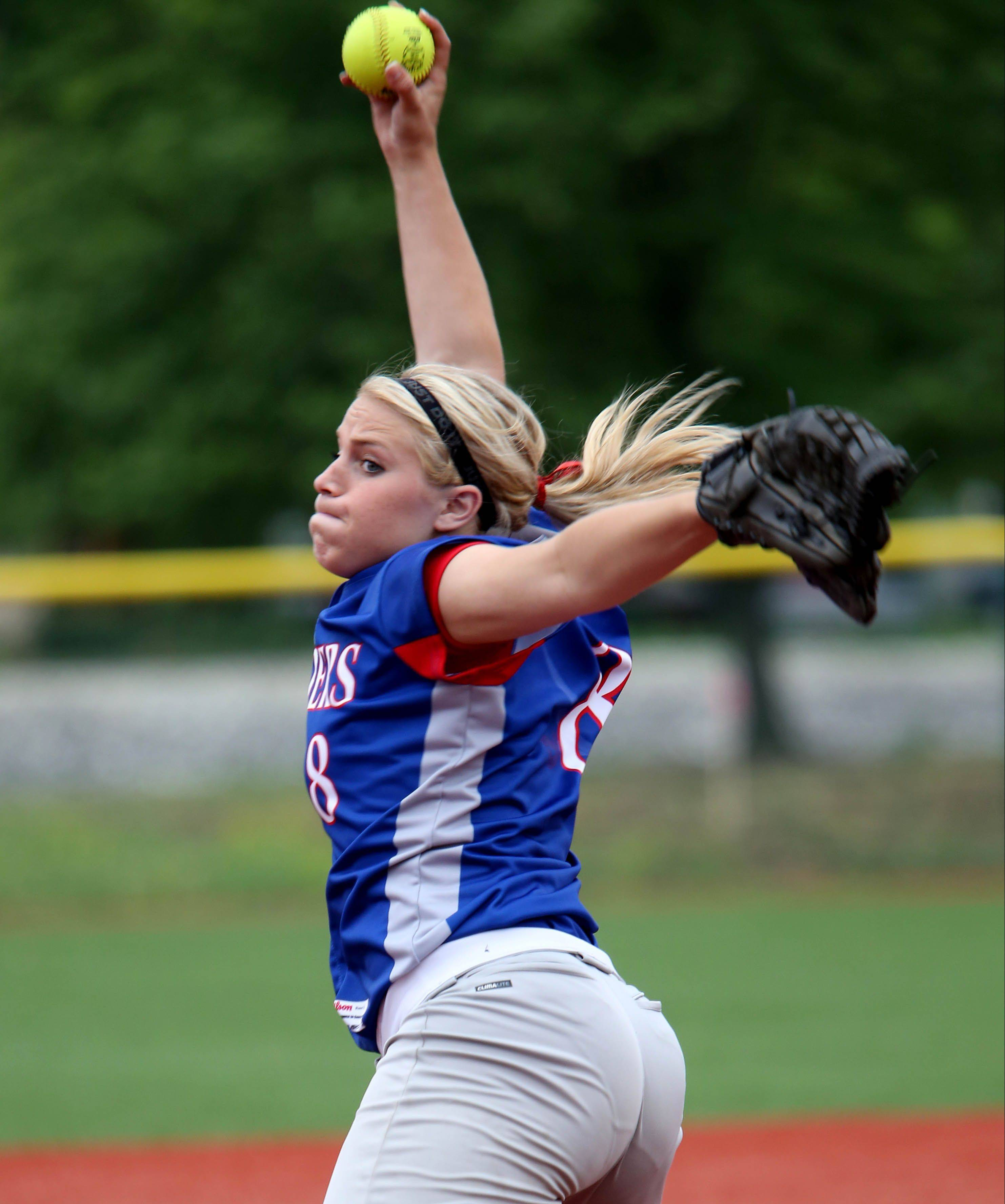 Senior Stephanie Chitkowski and her Glenbard South teammates will take on Tinley Park at 10 a.m. Friday in a Class 3A softball semifinal.