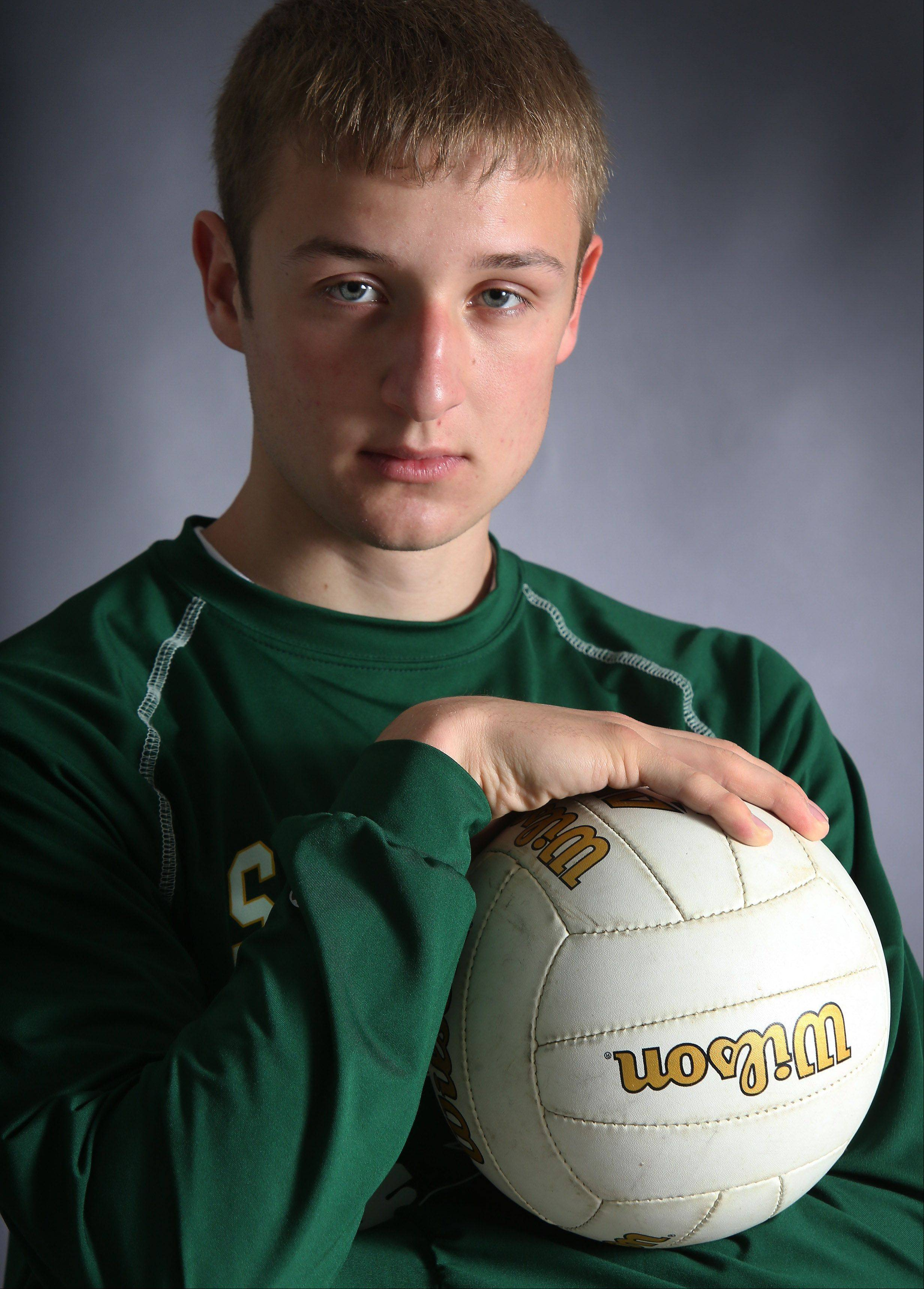 Stevenson senior Brad Tiller captains the Daily Herald's Lake County boys volleyball all-area team.