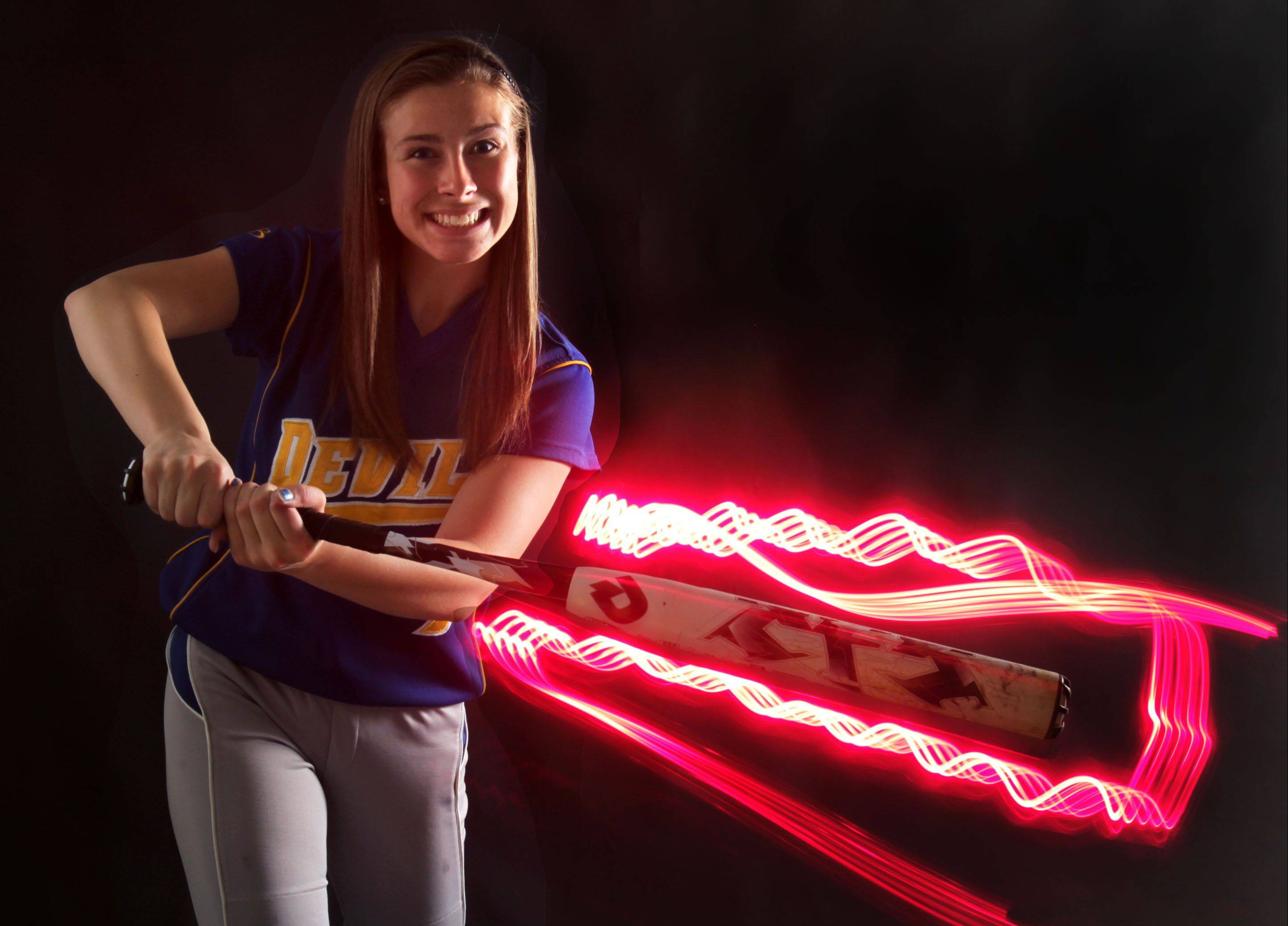 Warren senior outfielder Megan Sowa captains the Daily Herald's Lake County all-area softball team.