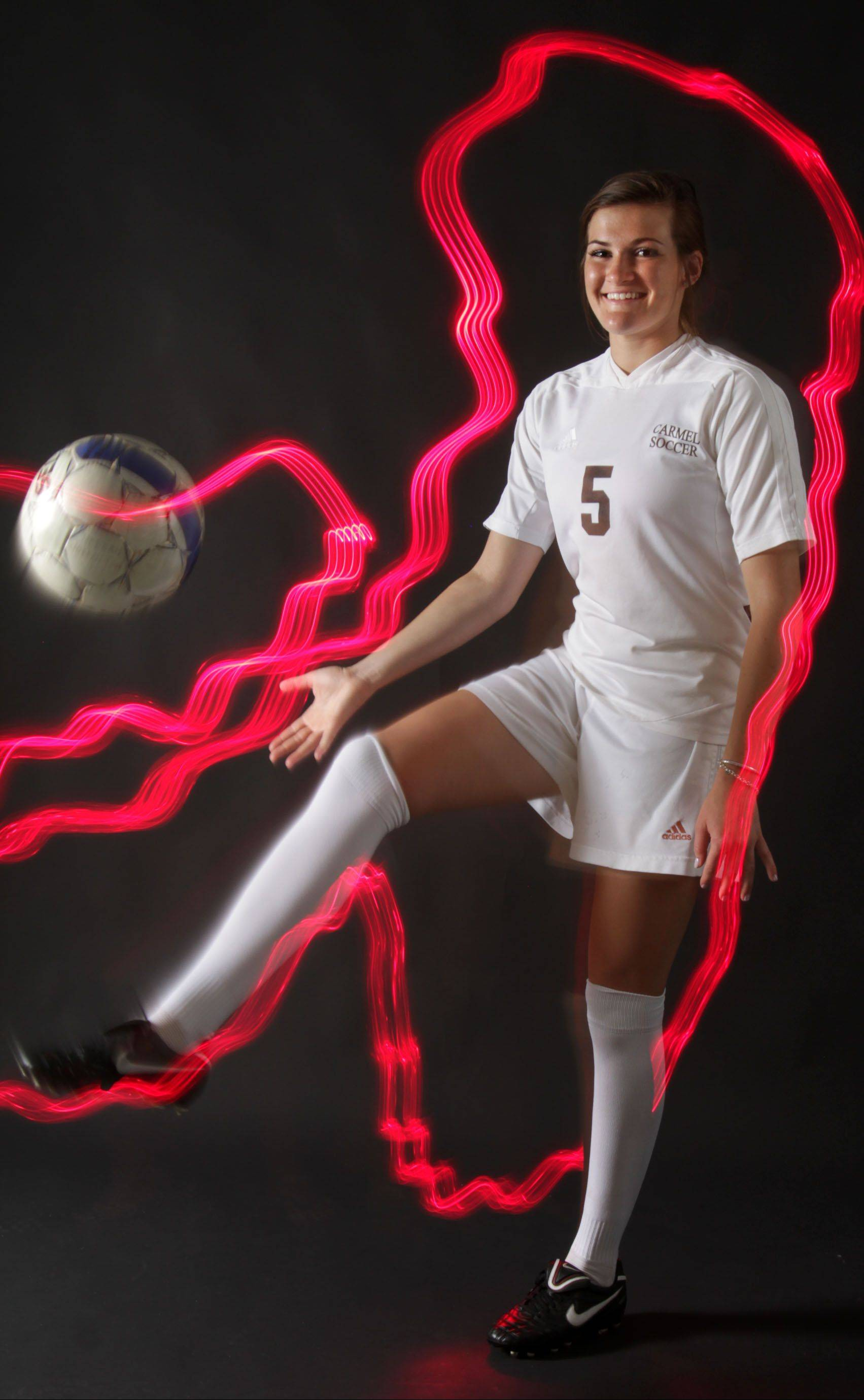 Meegan Johnston captains the Daily Herald's Lake County girls soccer all-area team.