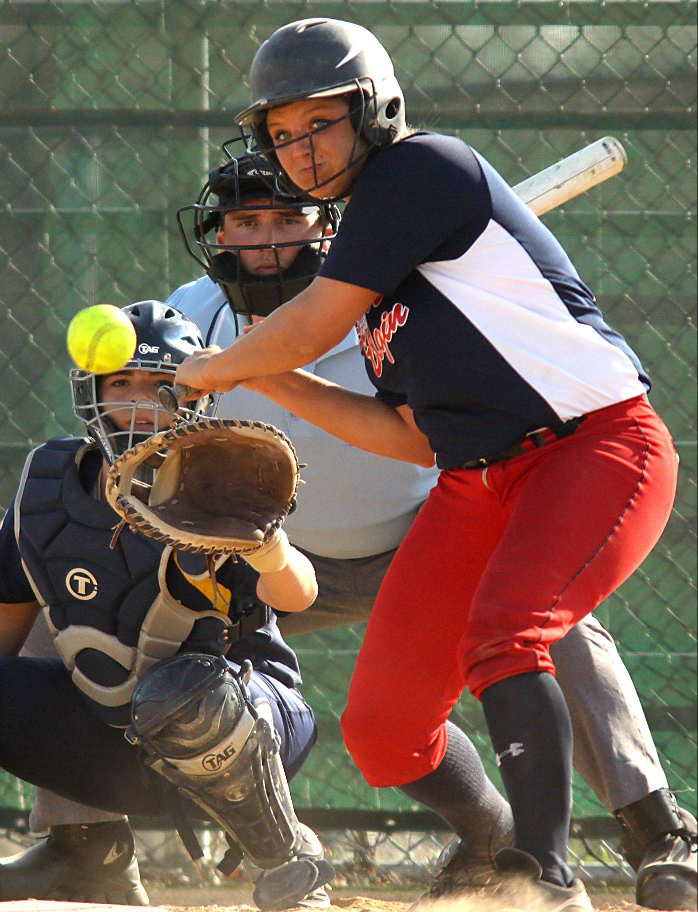 South Elgin junior Alyssa Buddle is the honorary captain of the Daily Herald's Fox Valley all-area softball team.