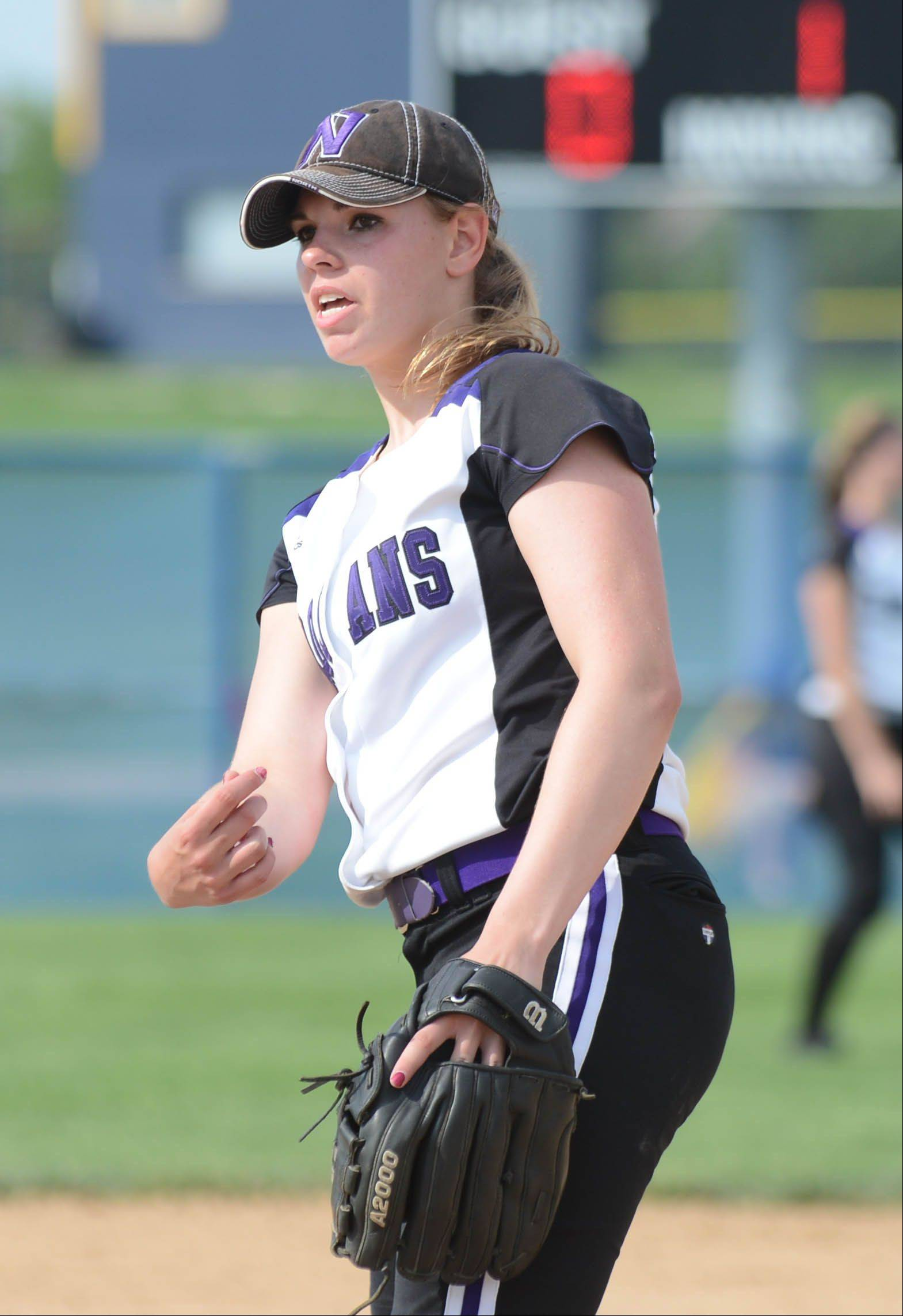 Downers Grove North pitcher Elaine Heflin for possible All-Area caption story