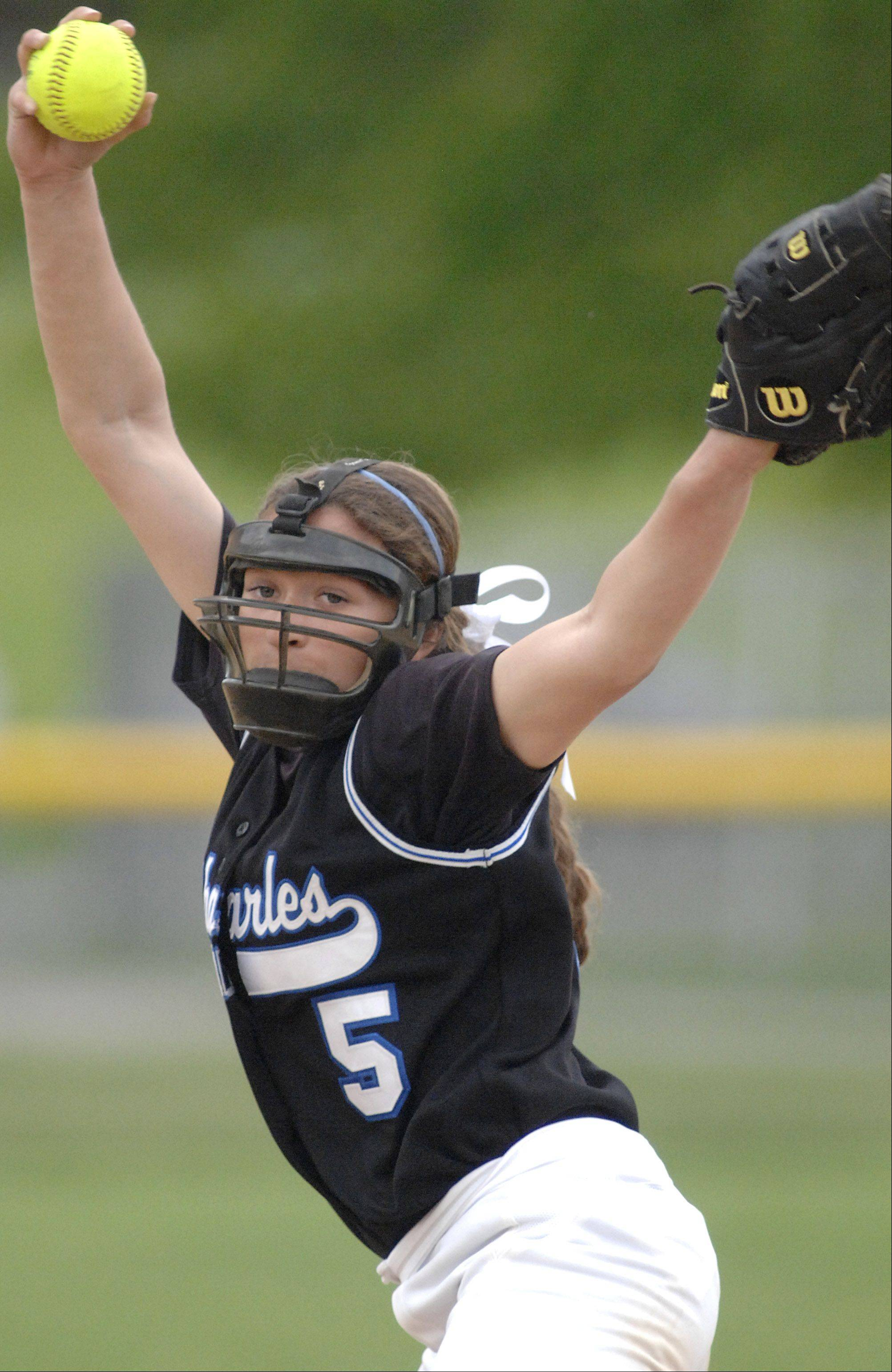 St. Charles North pitcher Sabrina Rabin.