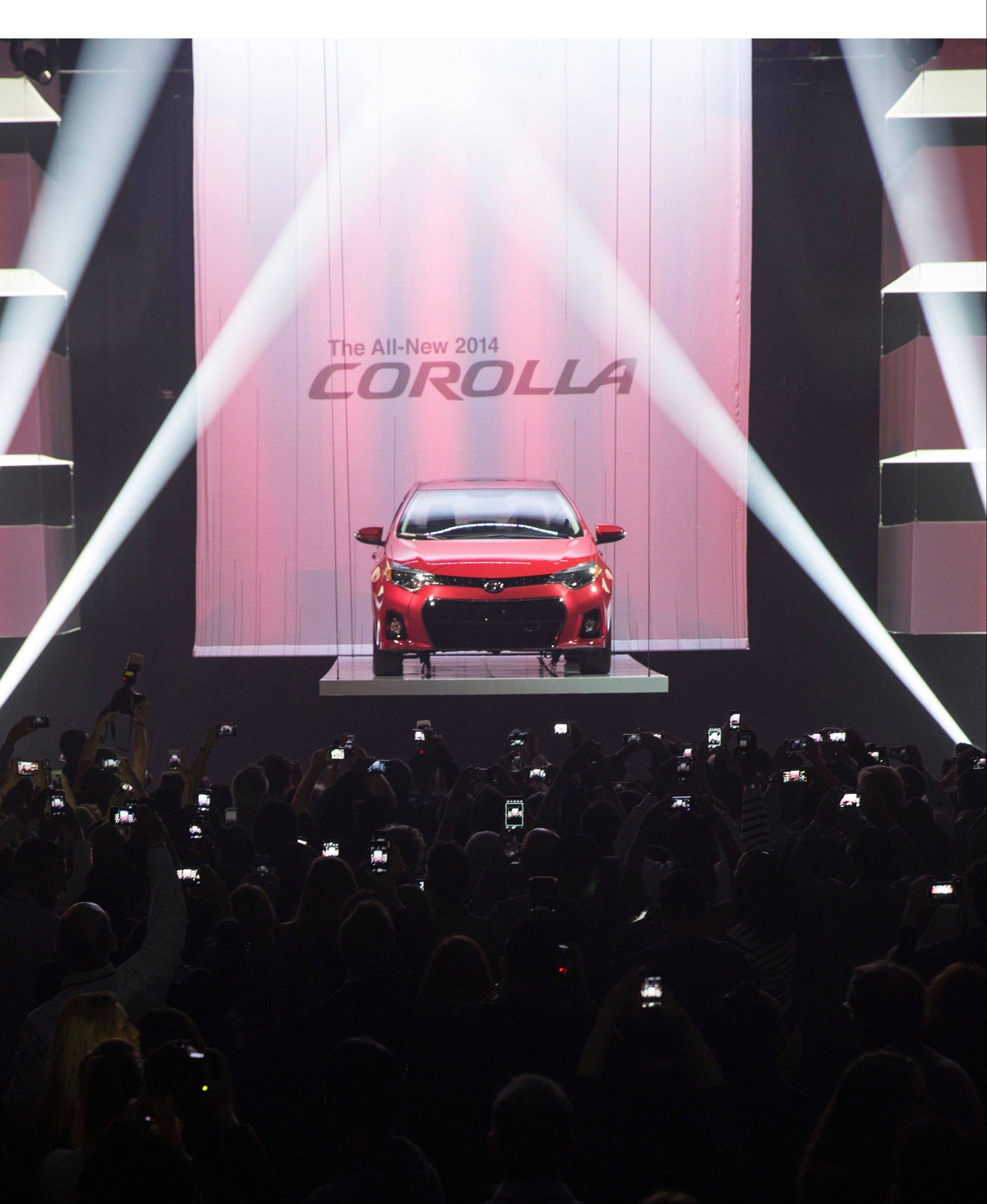 The all-new 2014 Toyota Corolla was revealed Thursday night at a packed celebration inside Barker Hangar in Santa Monica, Calif.