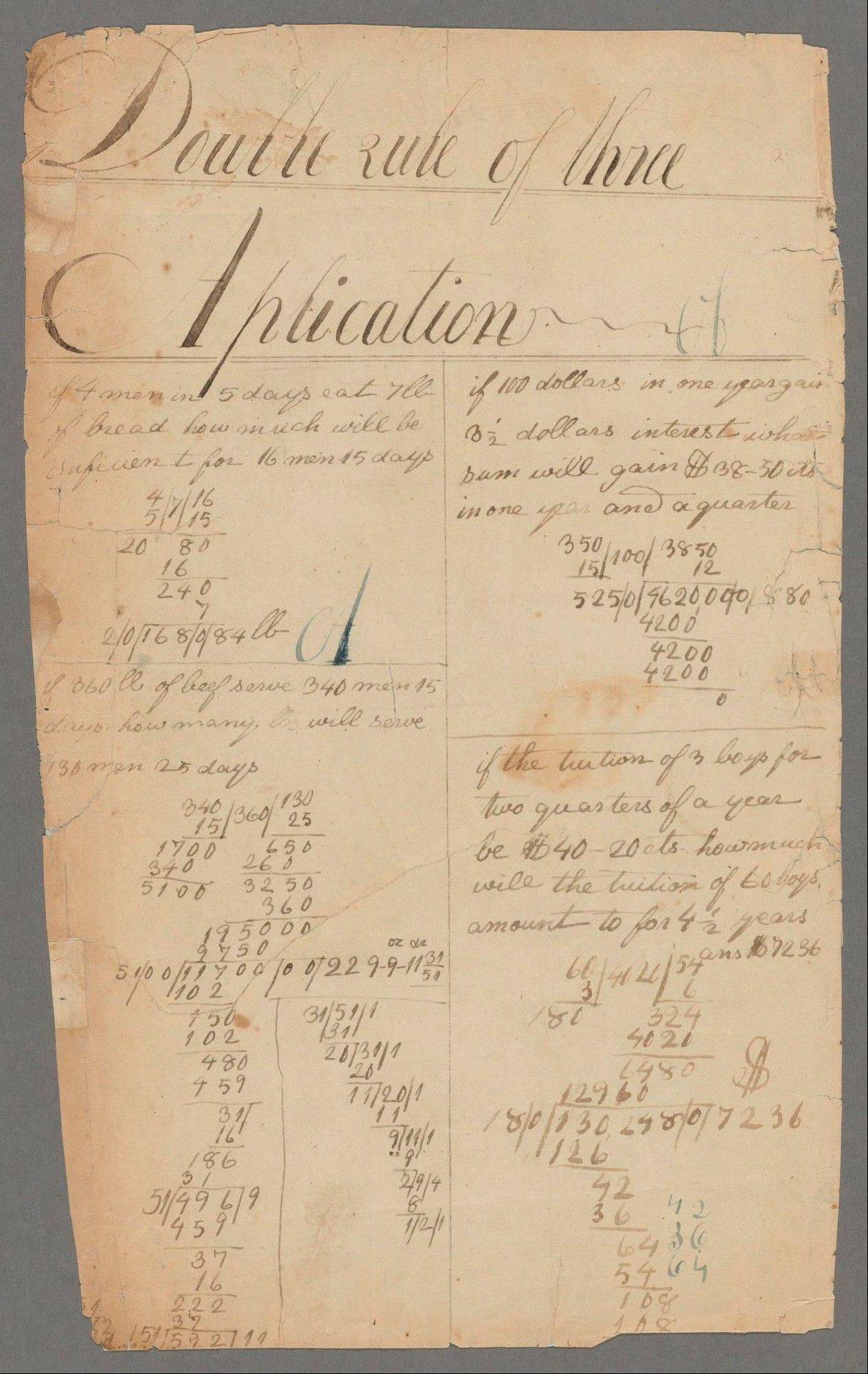 Illinois State University math professors Nerida Ellerton and Ken Clements confirmed two new pages to add to the math notebook believed to be the oldest surviving document written by Abraham Lincoln.