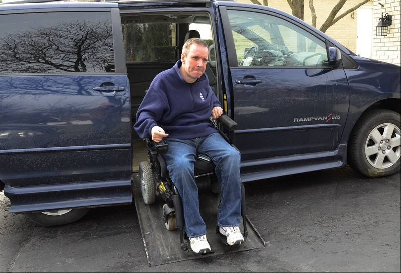 Palatine man winner of wheelchair accessible van for 2 story wheelchair lift