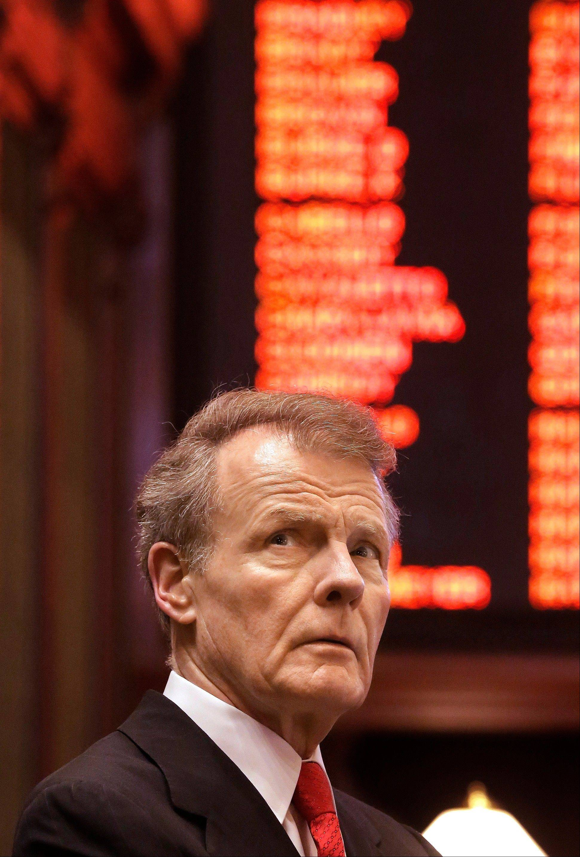 House Speaker Michael Madigan's pension legislation, which Gov. Pat Quinn supports, passed in the House but failed in the Senate this spring.