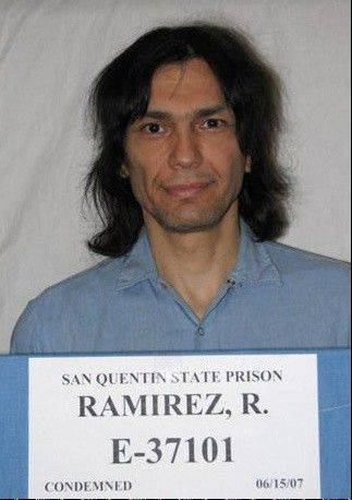 In this photo provided by the California Department of Corrections and Rehabilitation, inmate Richard Ramirez is seen in 2007 in San Quentin, Calif. Richard Ramirez, the notorious serial killer known as the Night Stalker, died early Friday in a hospital, a state official said.