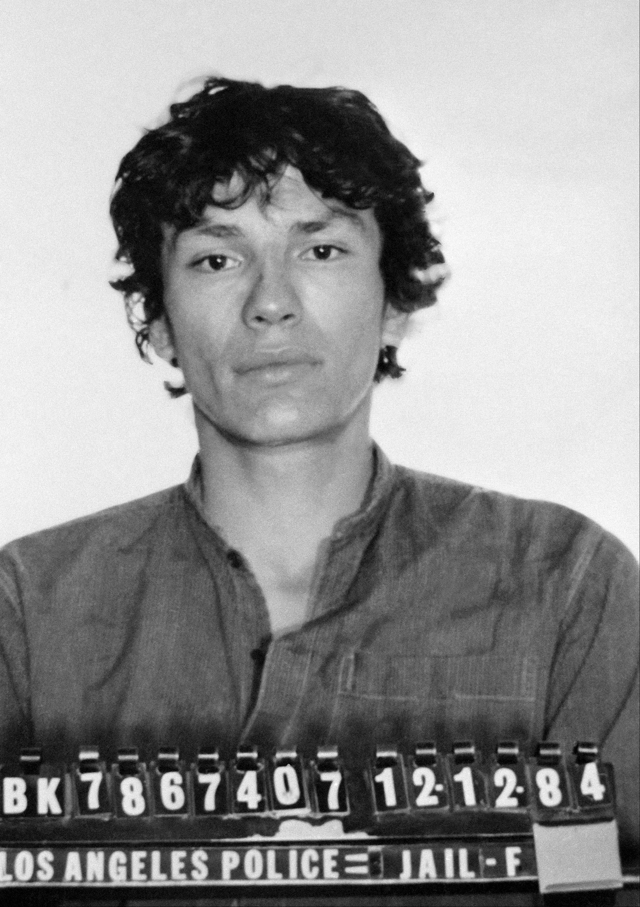 This undated file photo released by the Los Angeles Police Department shows the booking photo of serial killer Richard Ramirez shown in Los Angeles, Calif. Ramirez, known as the Night Stalker, has died in prison. San Quentin State Prison spokesman Lt. Sam Robinson says Ramirez died Friday, June 7, 2013.