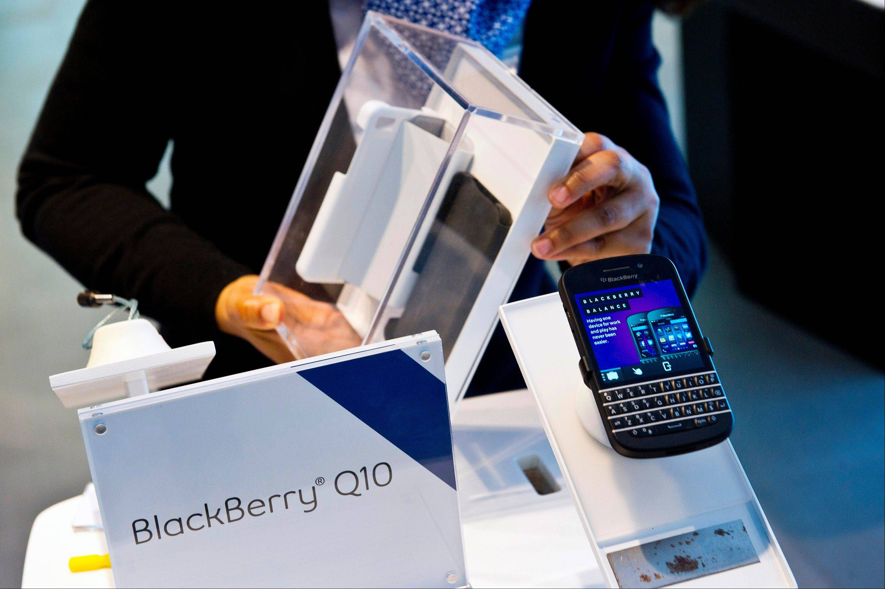 BlackBerry, the Canadian smartphone maker, climbed to its highest level in more than a month after Chief Executive Officer Thorsten Heins said he sees sales of its new Q10 device to be in the �tens of millions.�
