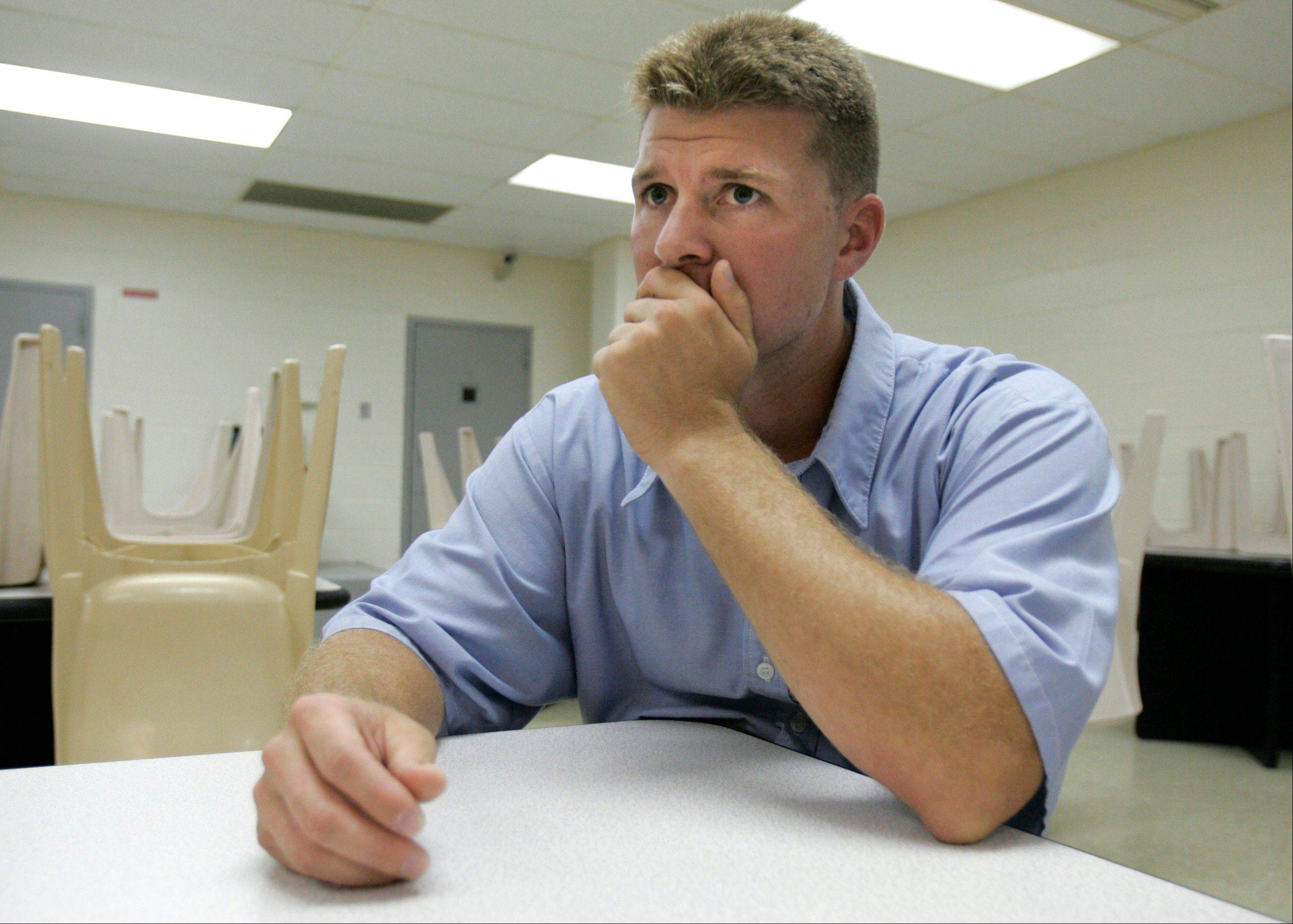 Associated Press/July 8, 2008 Former Navy SEAL trainee Dustin Turner listens to a question during an interview at the Powhatan Correctional Facility in Powhatan, Va.