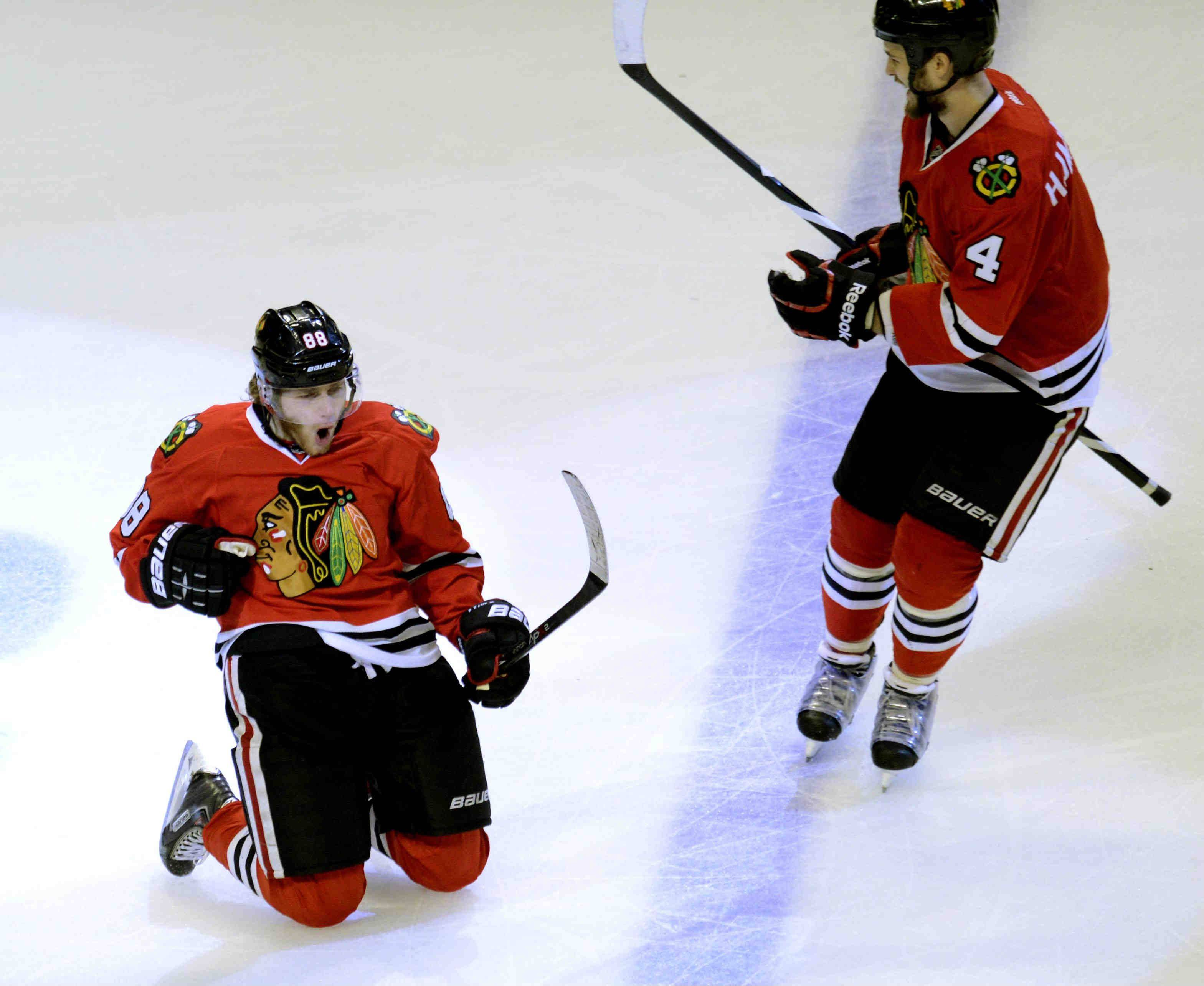 Hat trick for Patrick propels Hawks