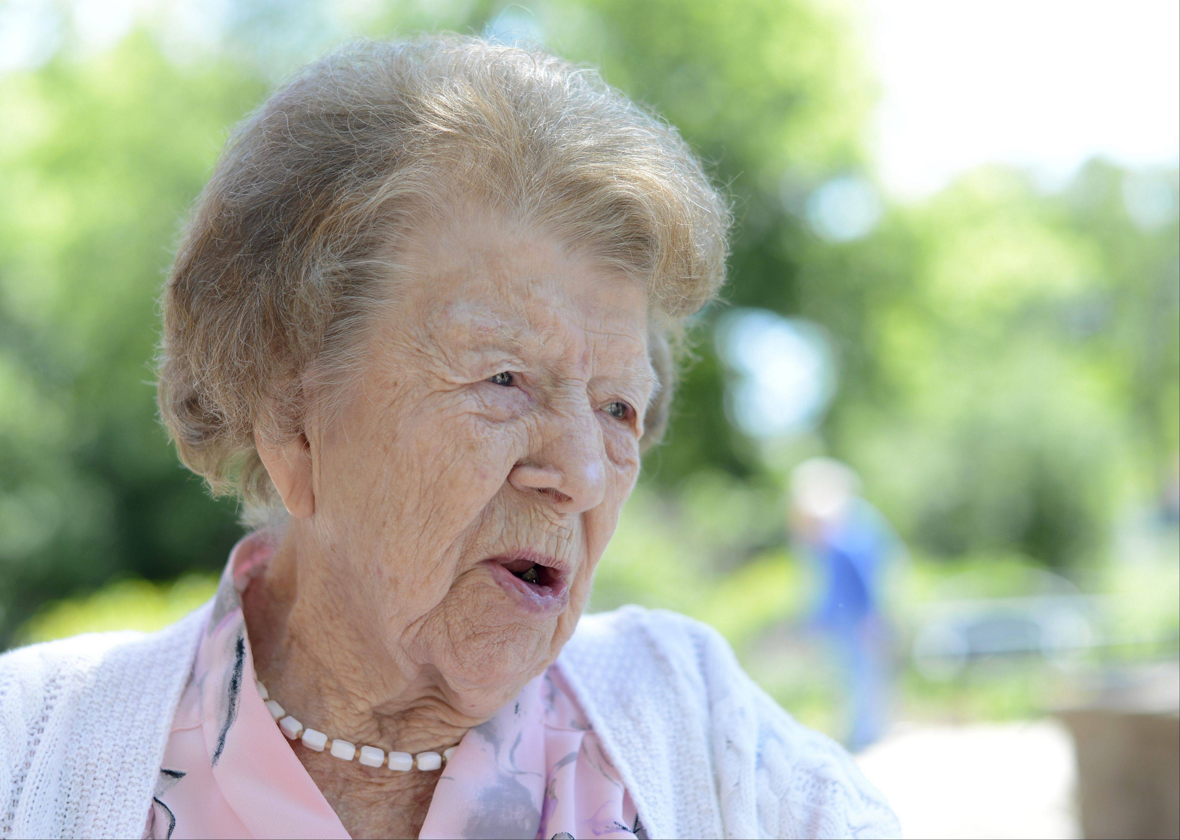 "Lena Agnes ""Aggie"" Petzinger turns 102 on Sunday. A resident of Tower Hill Healthcare Center in South Elgin, her favorite saying has been, ""You're never too old until you turn 102."" She recently changed that to 103."