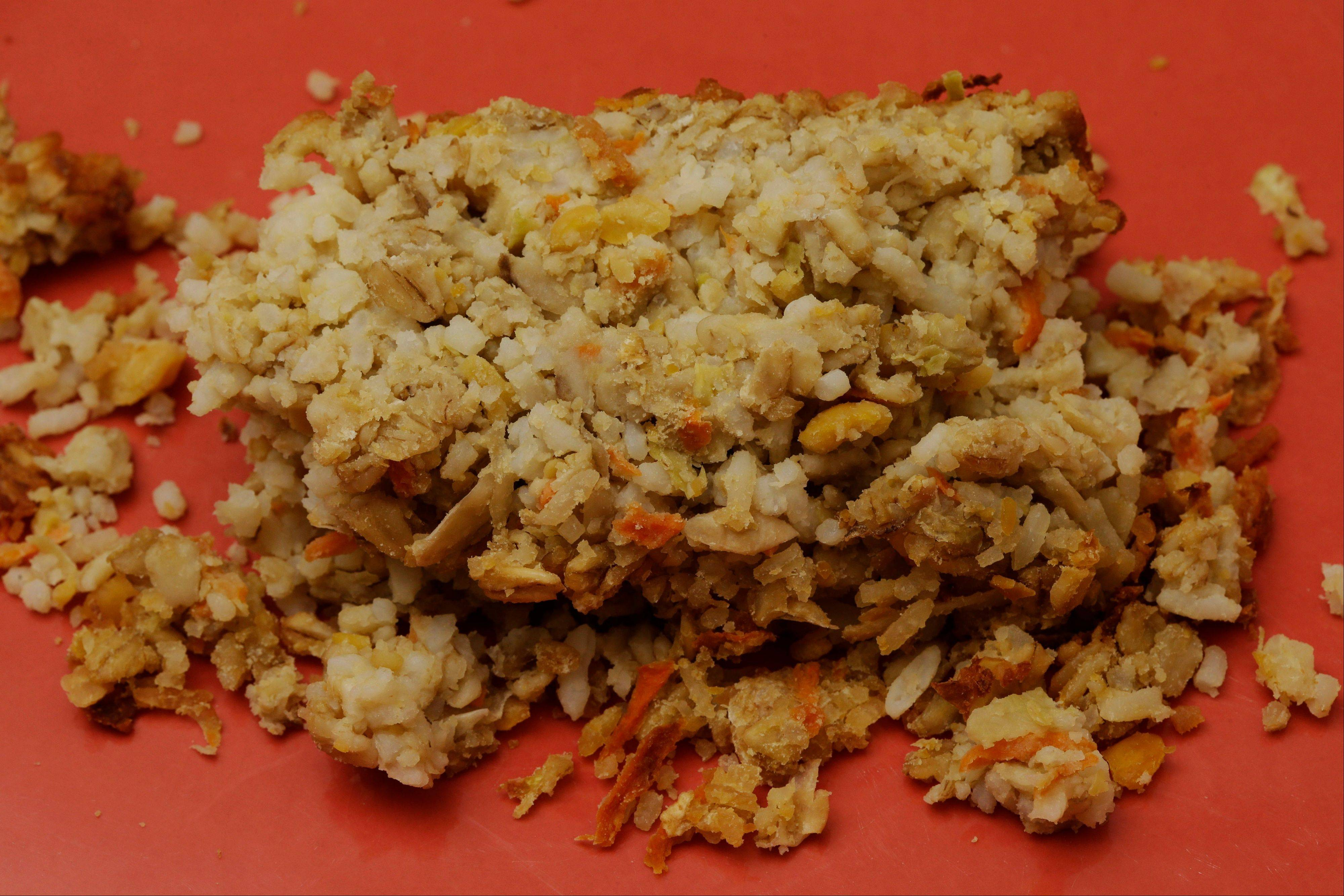 "A plate of Nutraloaf, presently served in Pennsylvania prisons as a ""behavior modified meal,"" at Eastern State Penitentiary in Philadelphia. The historic penitentiary plans to serve visitors sample meals from the 1800s, 1900s and today this weekend."