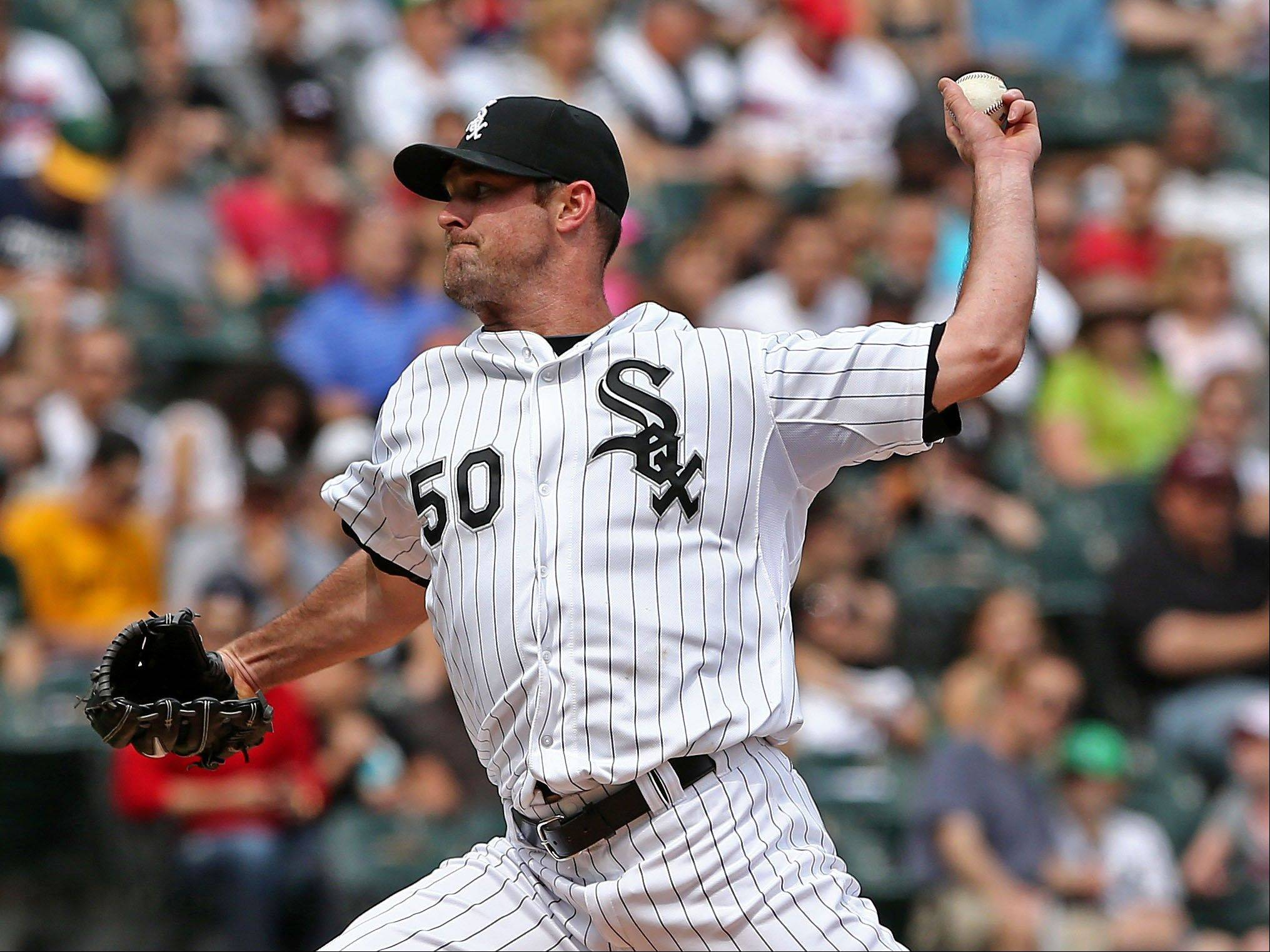White Sox starter John Danks (1-2) retired the last 21 Athletics he faced Saturday while allowing 1 run on 3 hits in 8 innings. It was his first win since May 19 of last season, when he beat the Cubs at Wrigley and his first home win since Sept. 24, 2011.