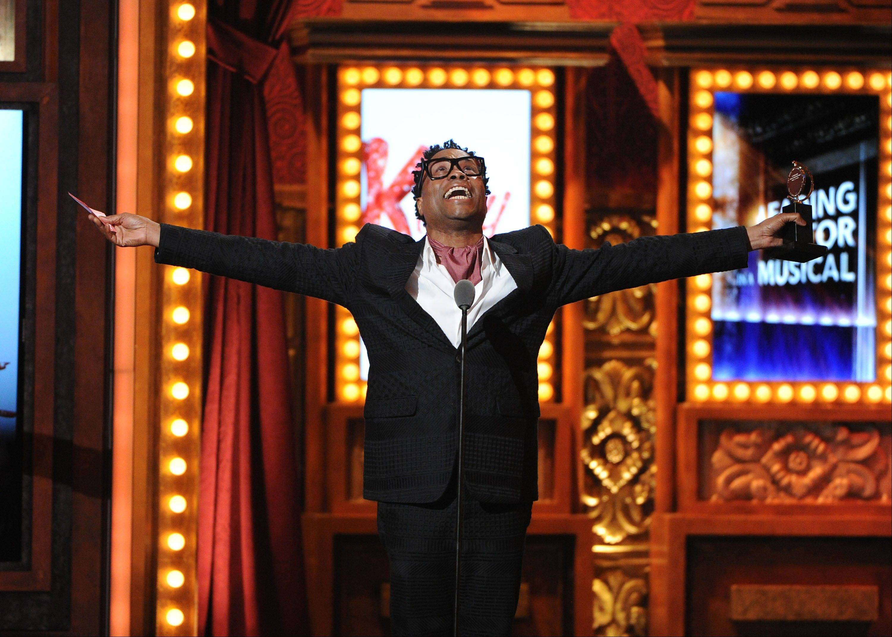 Billy Porter accepts his award for best actor in a musical at the 67th Annual Tony Awards, on Sunday, June 9, 2013 in New York.