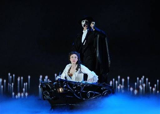 "The cast of ""Phantom of the Opera"" performs during the Tonys in honor of the show's 25th anniversary."