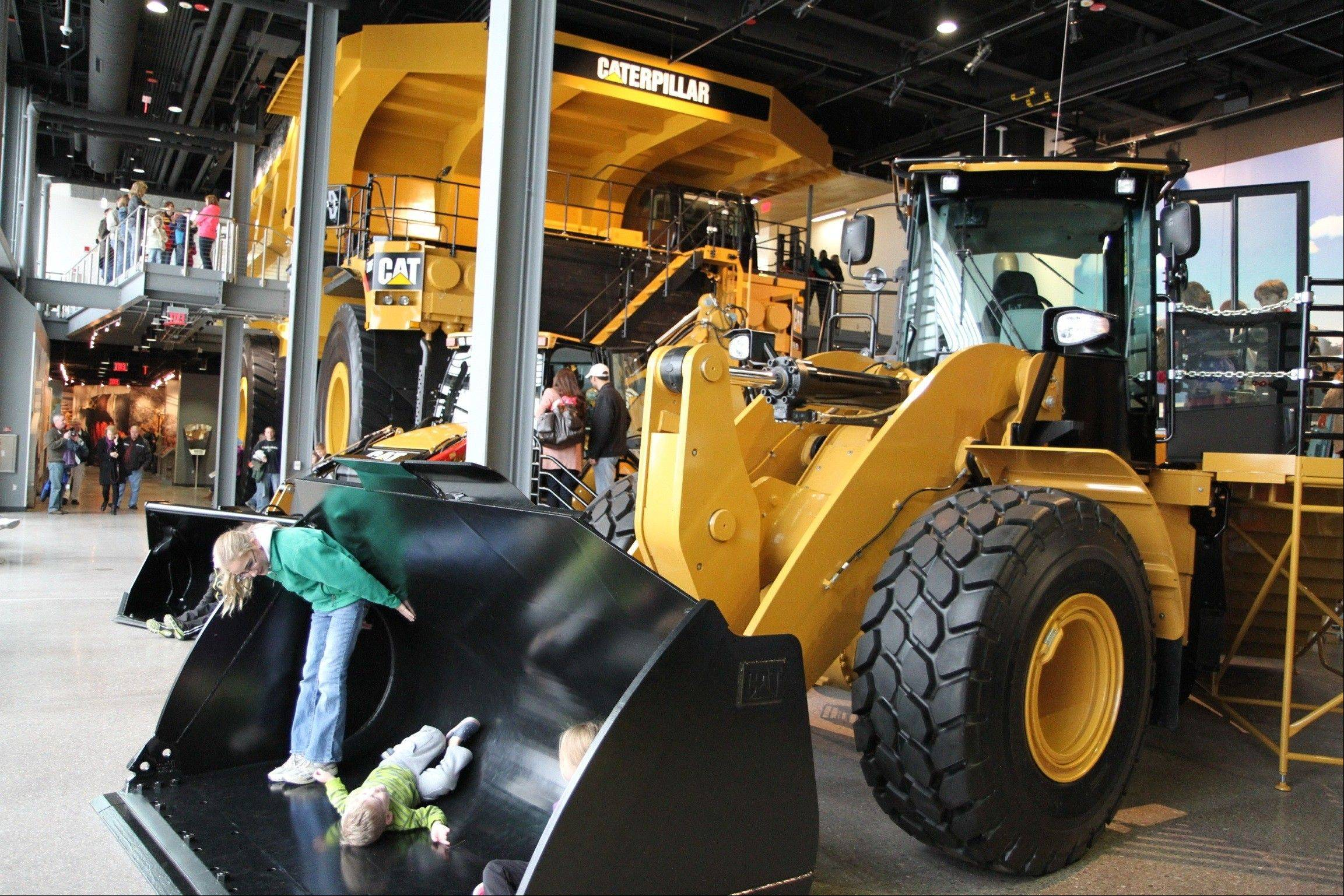 The Caterpillar Visitors Center in Peoria displays a variety of heavy equipment used on construction and mining sites.