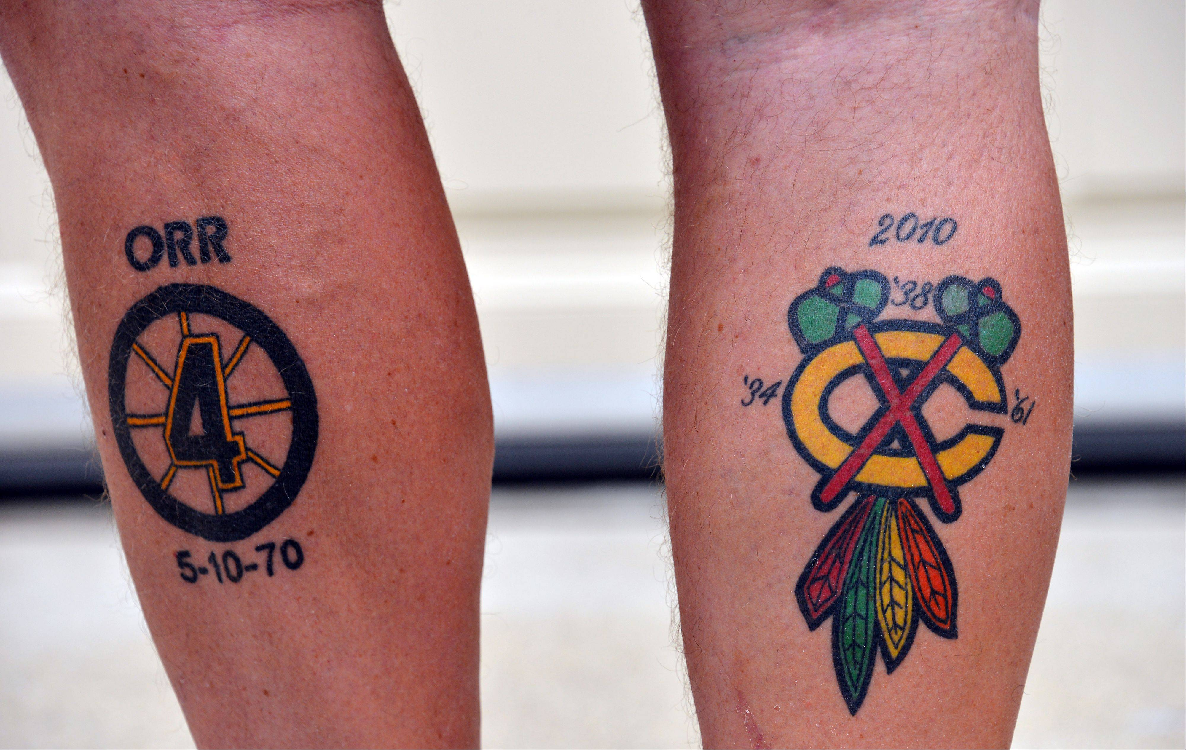 Despite Bruins ink, Mt. Prospect man is Hawks fan